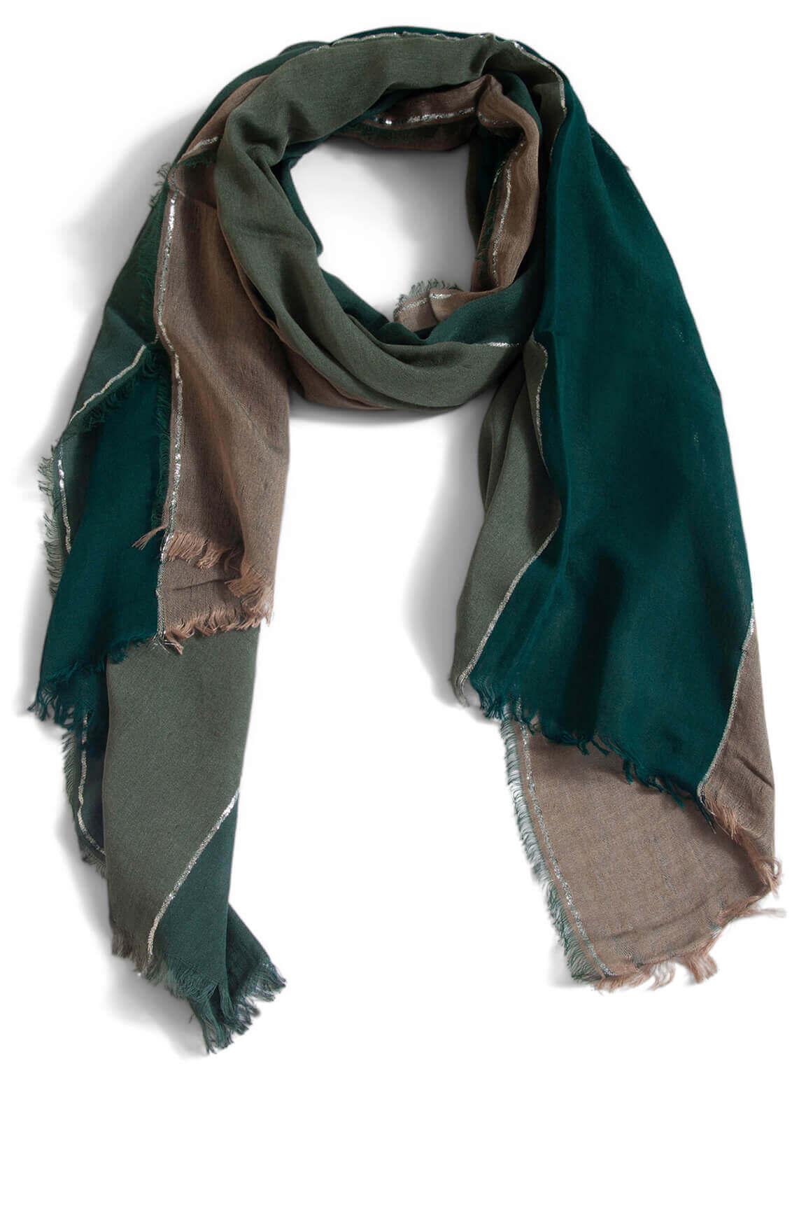 Anna Dames Shawl met lurex groen