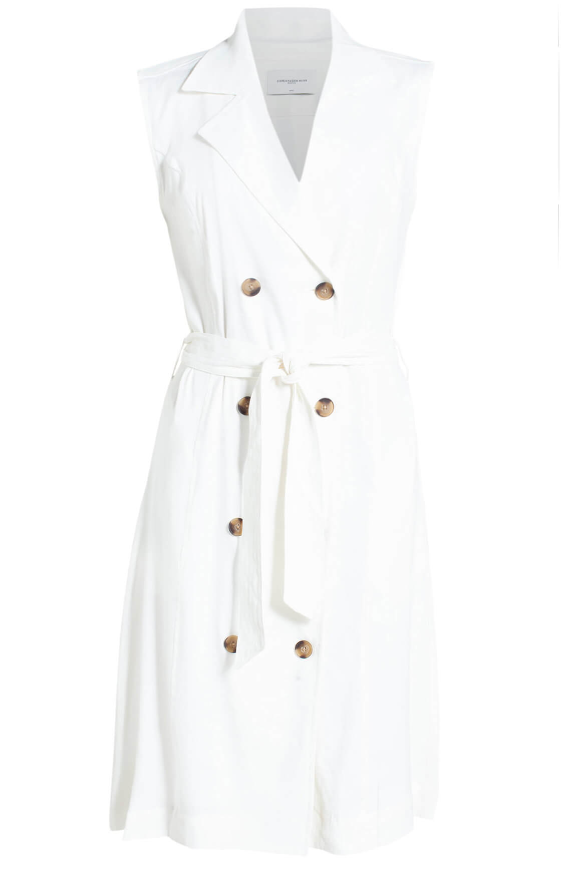 Copenhagen Muse Dames Mouwloze jurk wit