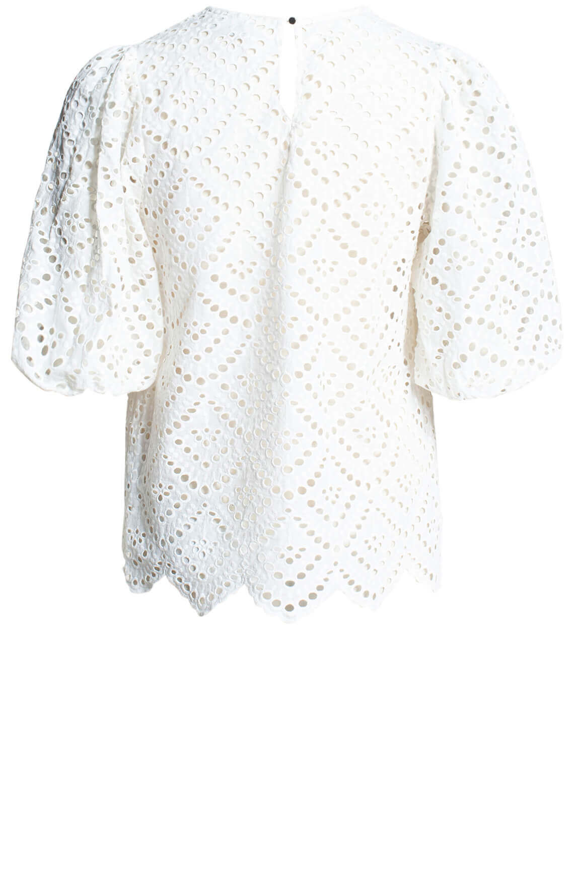 Copenhagen Muse Dames Broderie blouse wit