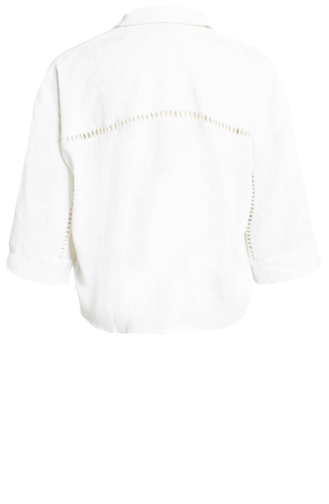 Alix The Label Dames Crinkle blouse wit