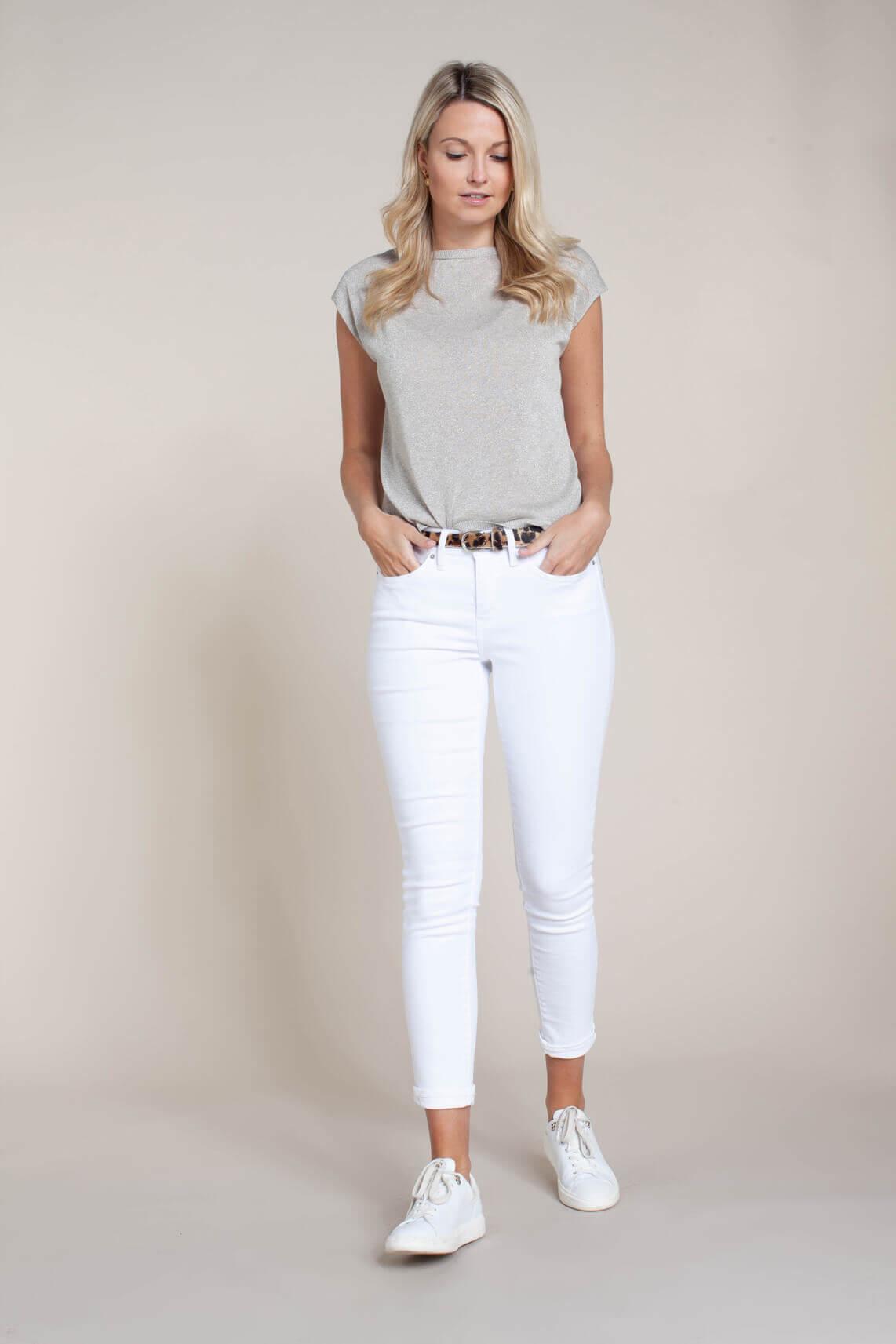 Kocca Dames Omnia lurex shirt Grijs