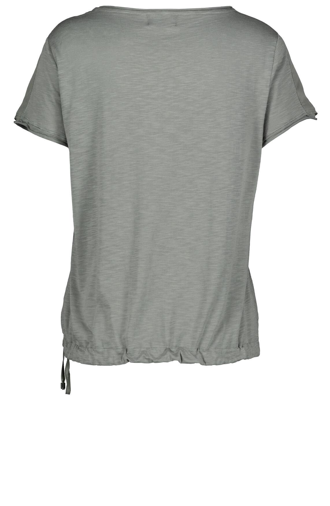 Monari Dames Materiaalmix shirt Grijs