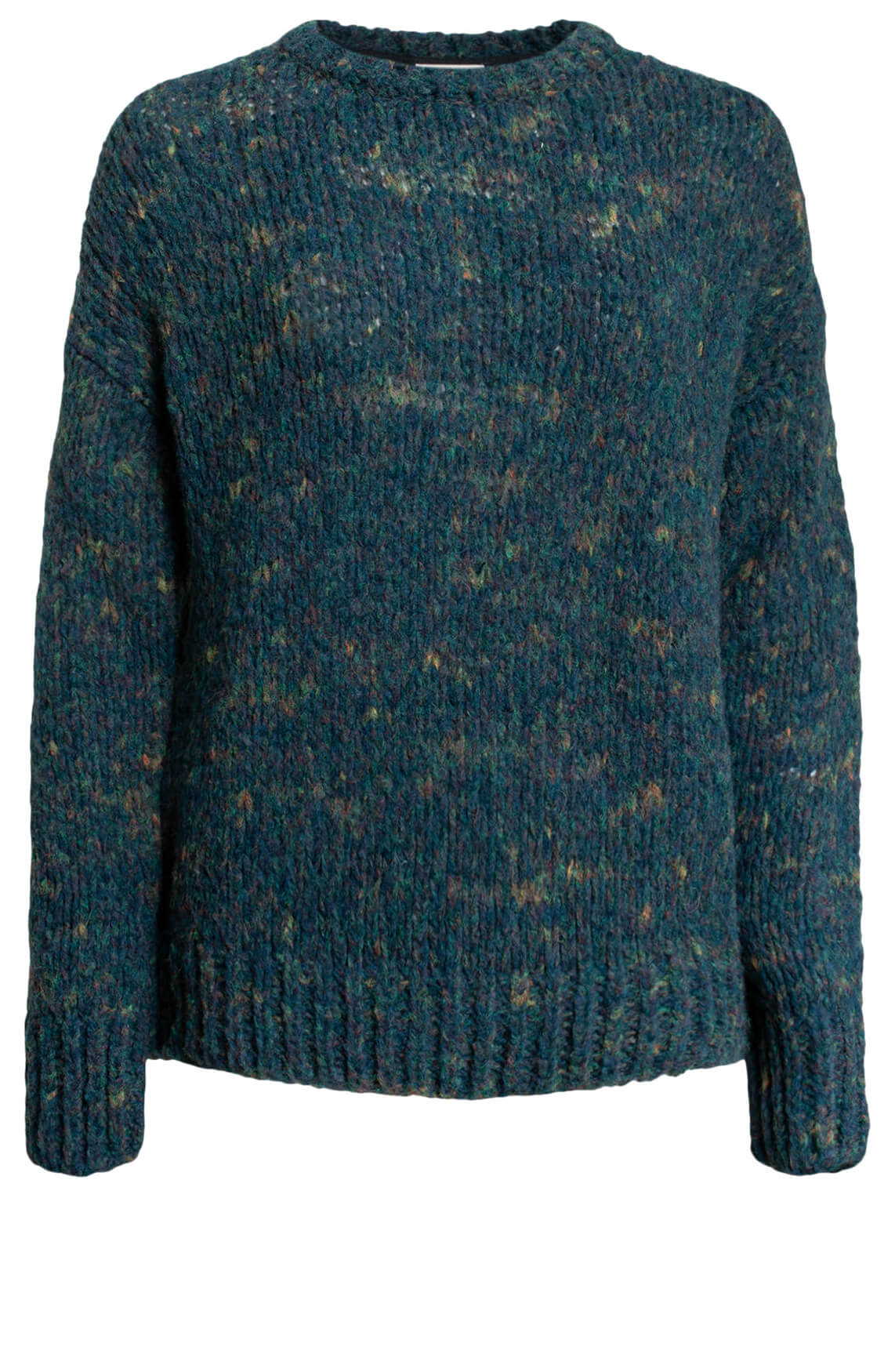 Anna Blue Dames Grofgebreide pullover Blauw