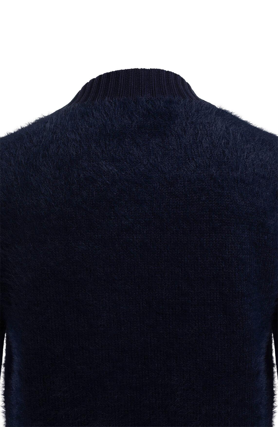 Anna Blue Dames Harig vest Blauw