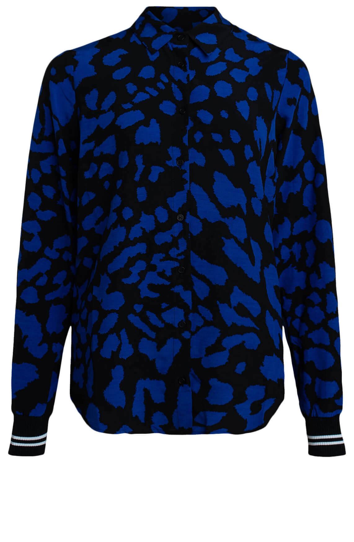 Anna Blue Dames Blouse met gevlekte print Blauw