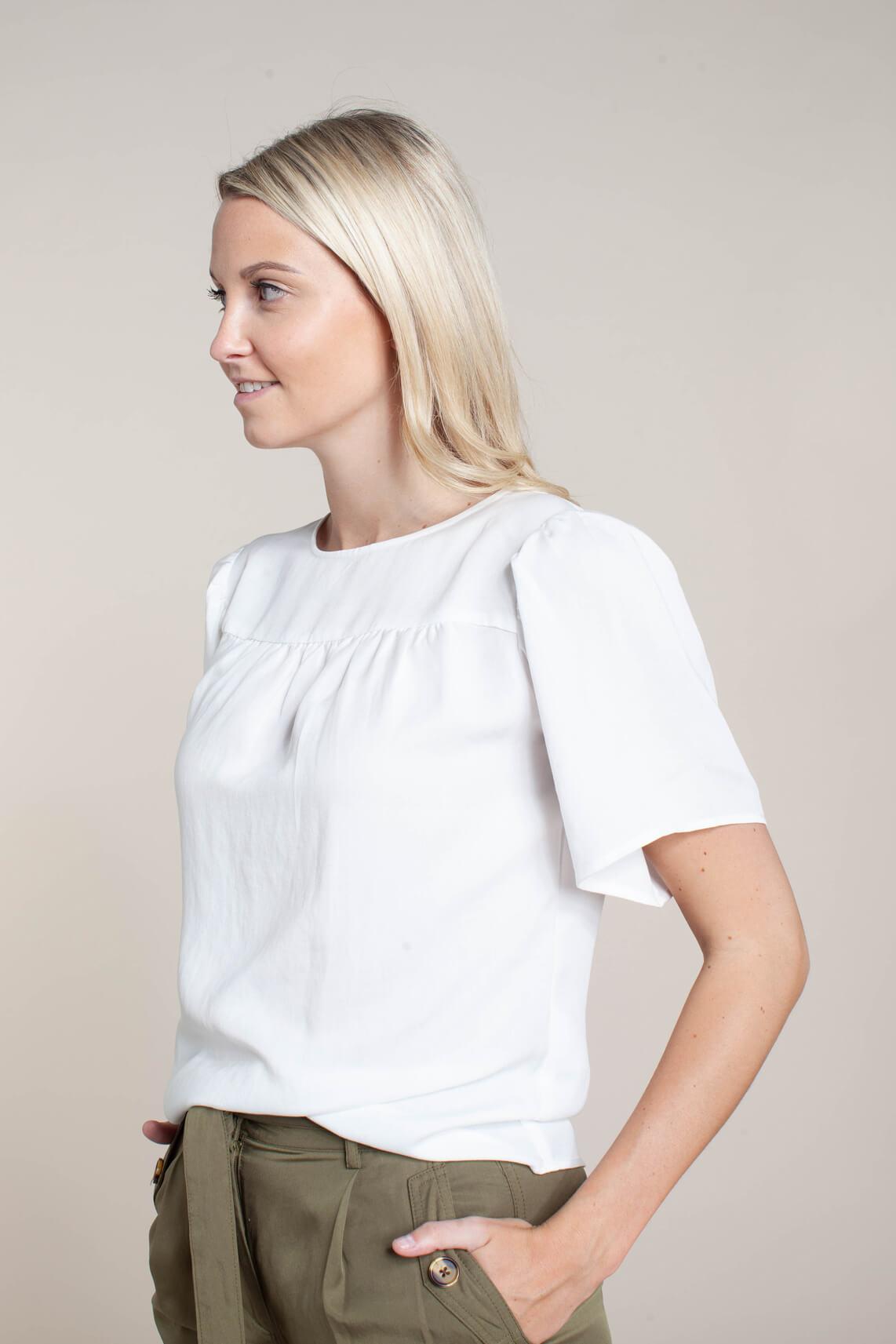 Object Dames Luna blouse wit