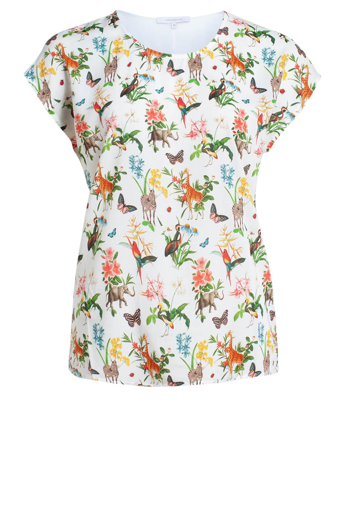 La Fée Maraboutée Dames Dierenprint blouse MultiColor