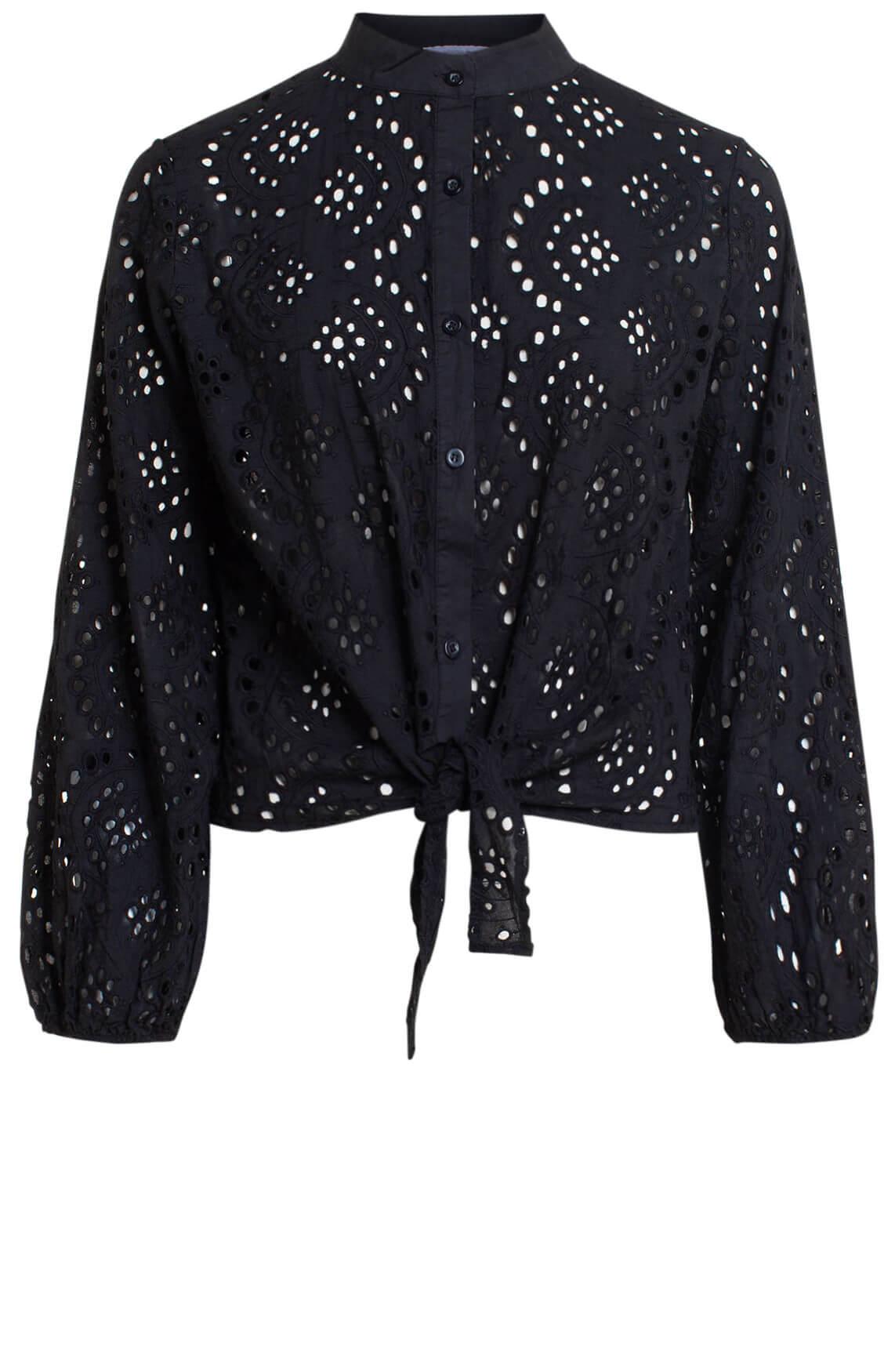 La Fée Maraboutée Dames Broderie blouse zwart