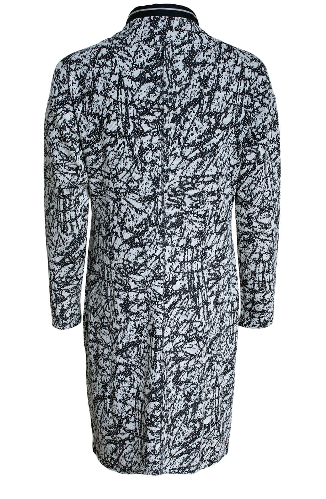 Anna Blue Dames Jacquard jurk zwart