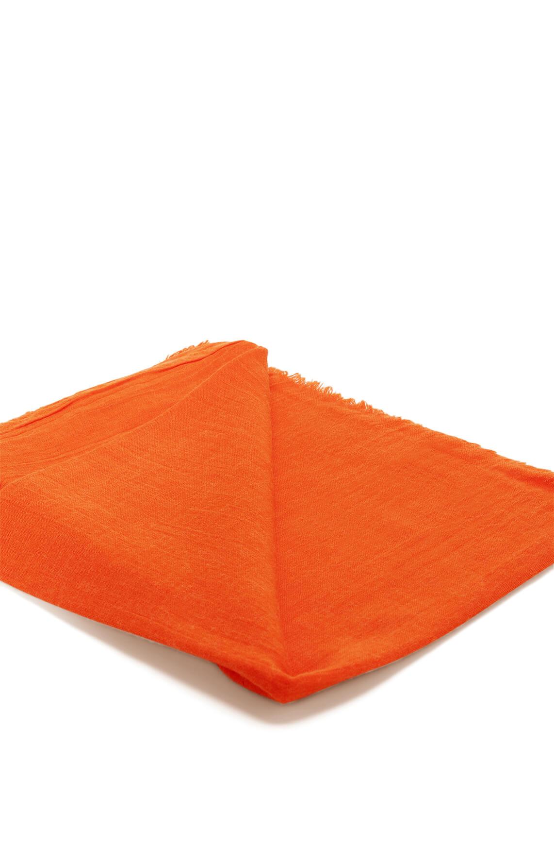 Anna Dames Shawl met wol Oranje