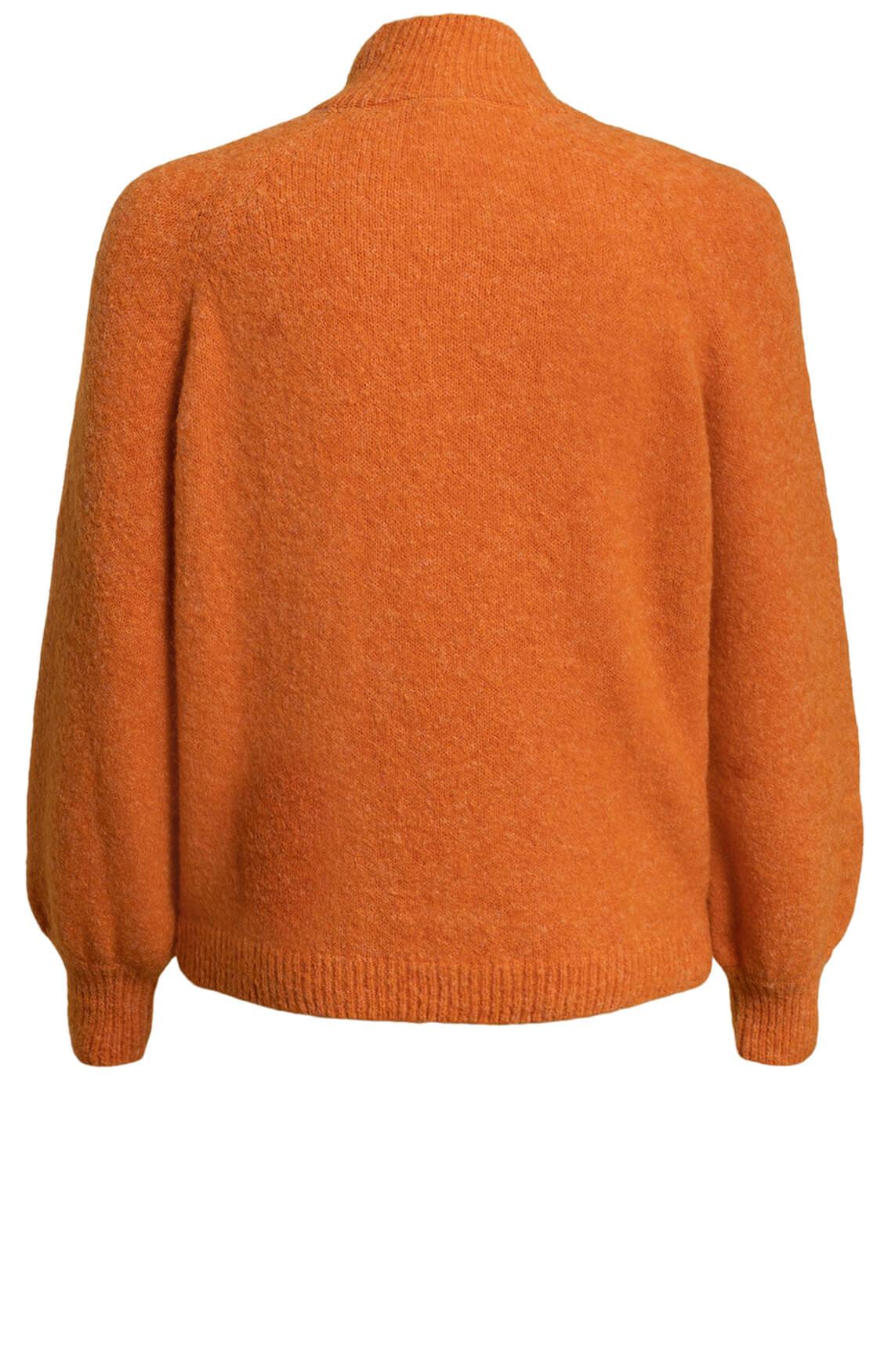 Anna Dames Pullover met wolmix Oranje
