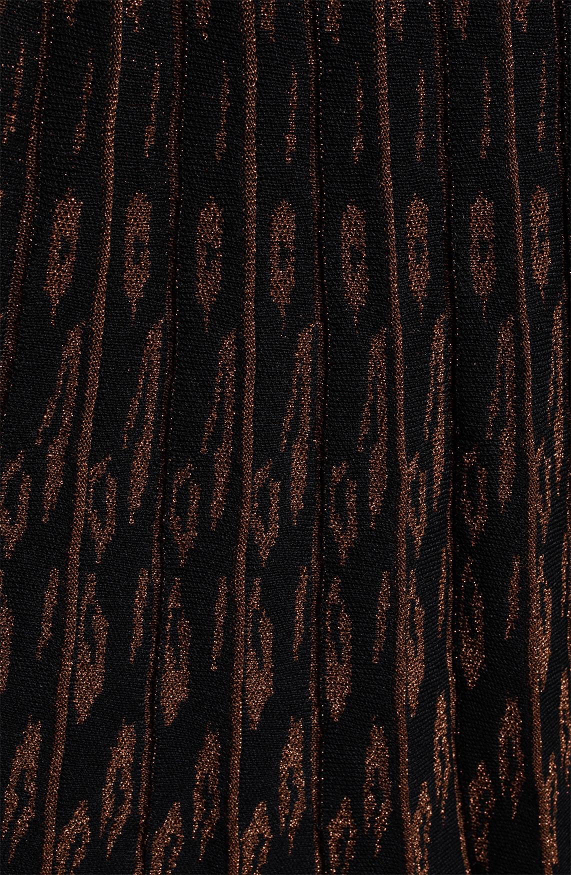 Anna Dames Plissé rok met lurex zwart