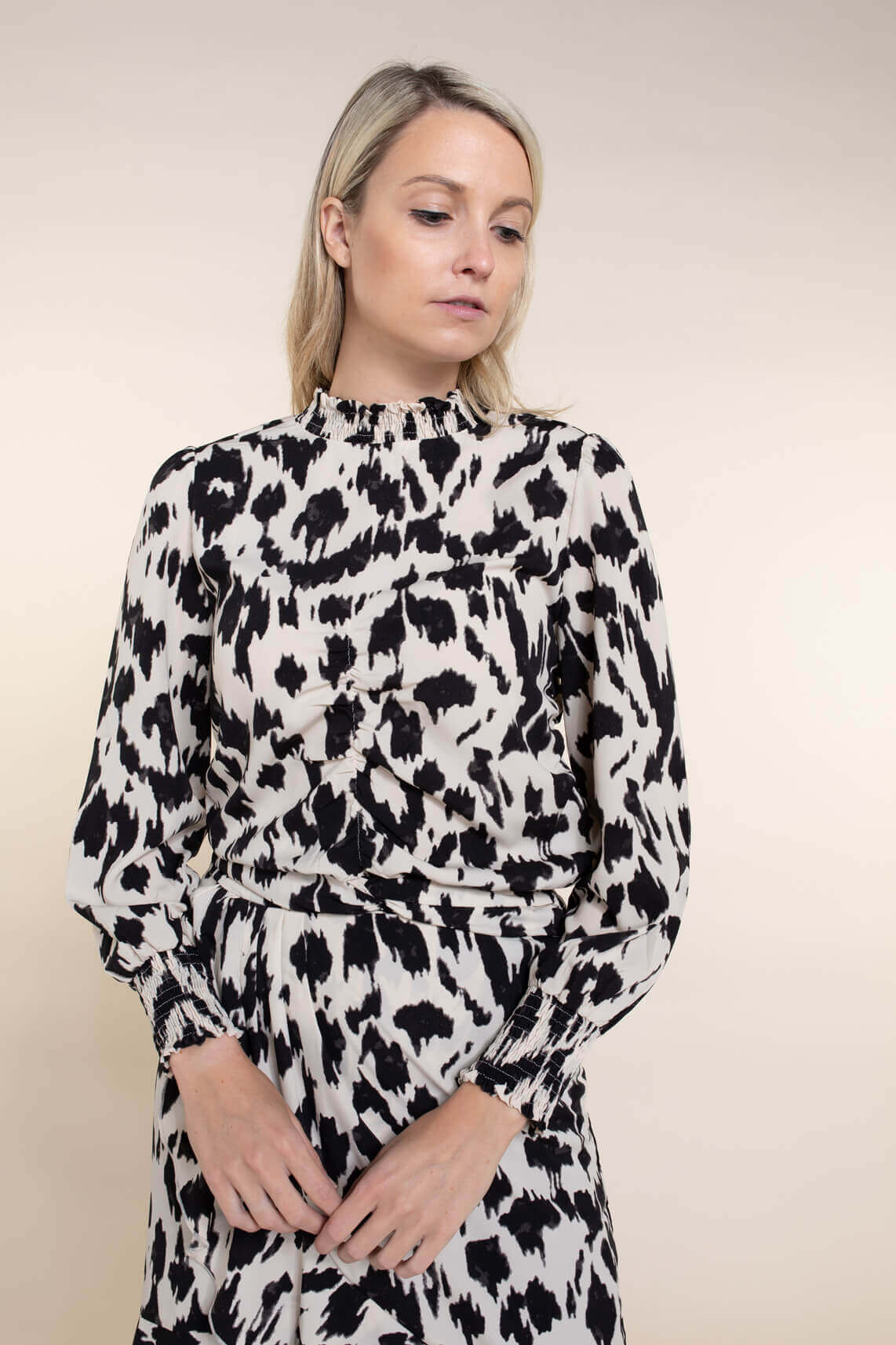 Co Couture Dames Smok blouse zwart