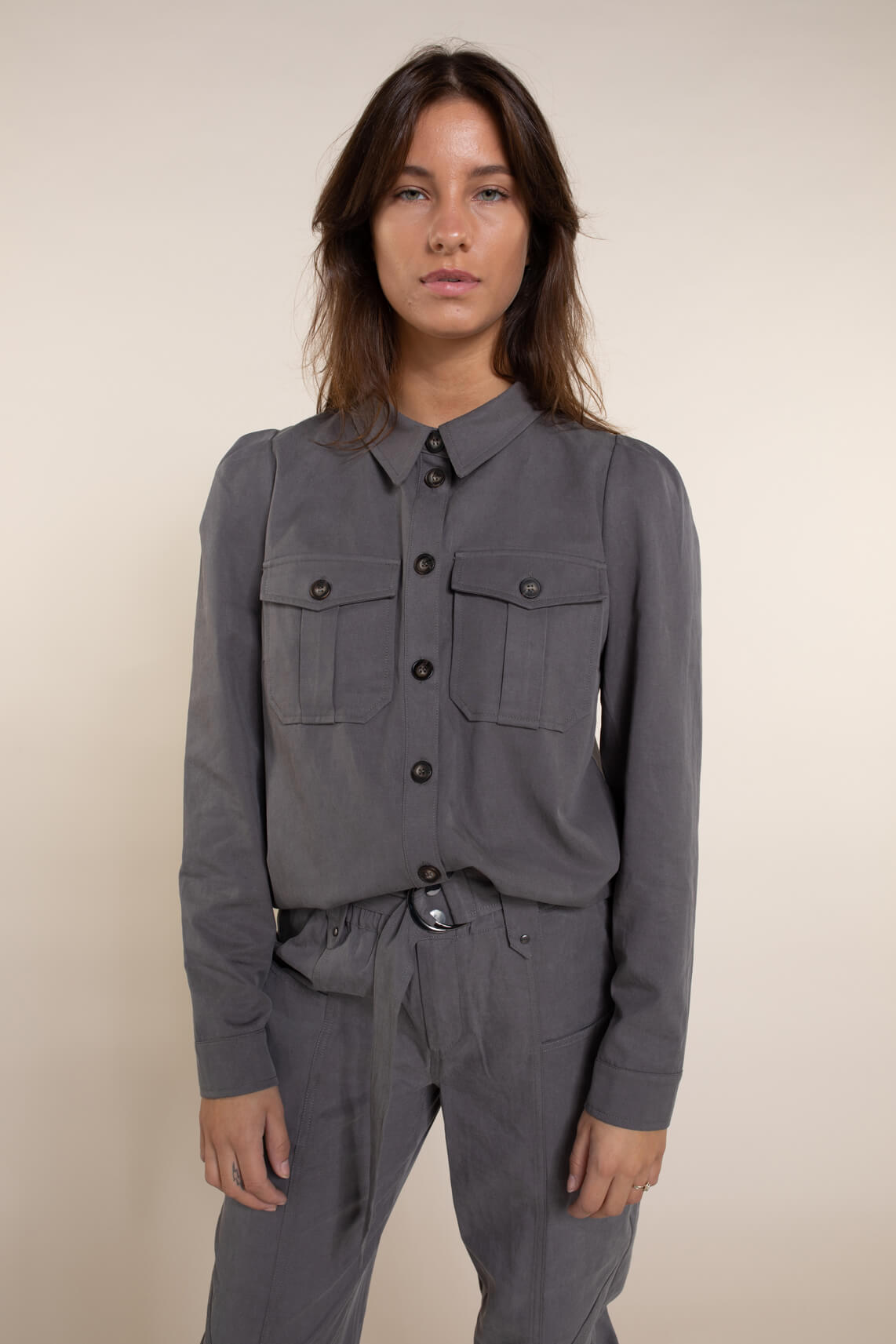 Co Couture Dames Elle blouse Grijs