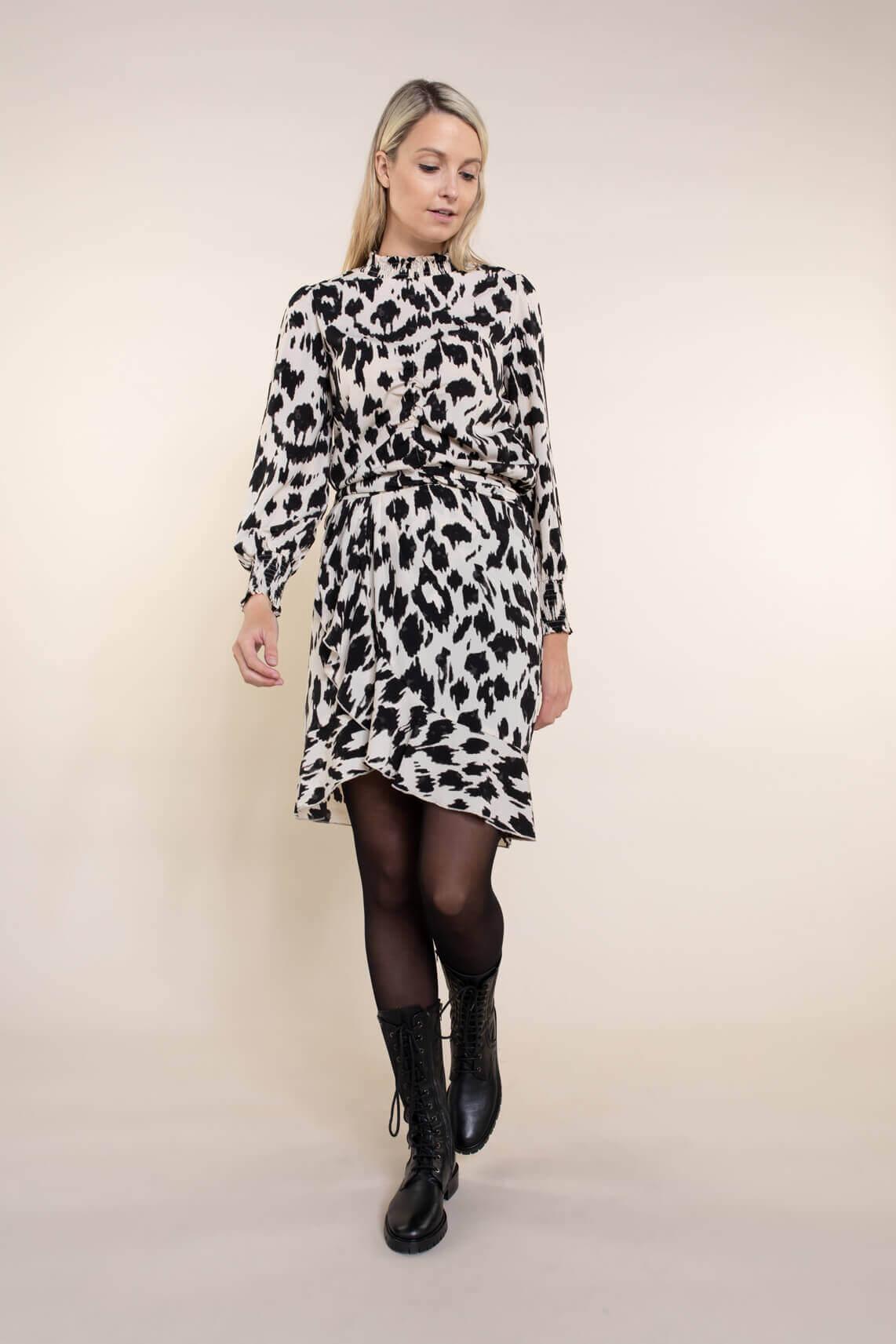 Co Couture Dames Rok met ruches zwart