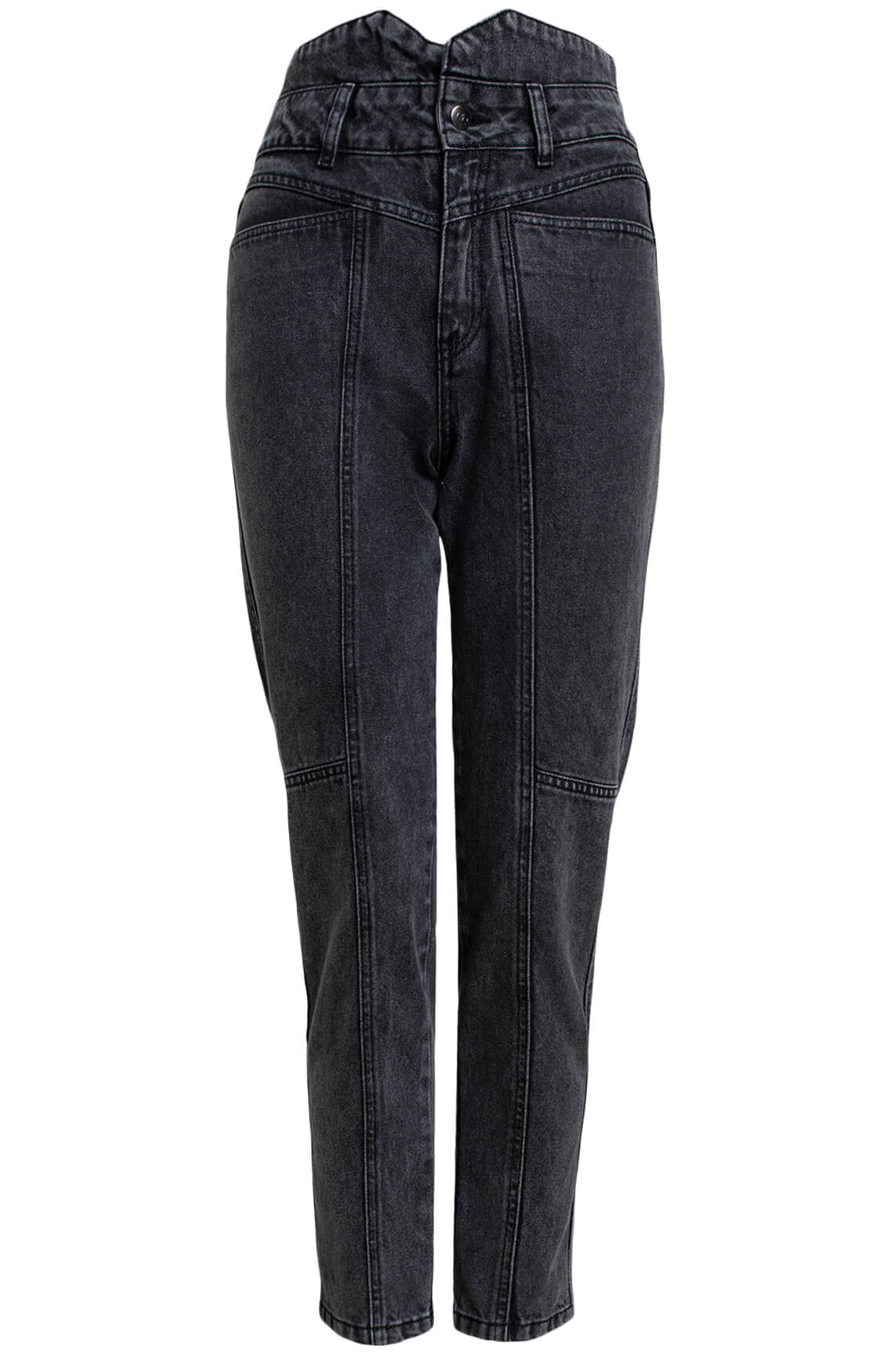 Co Couture Dames Zora high-waist jeans Grijs