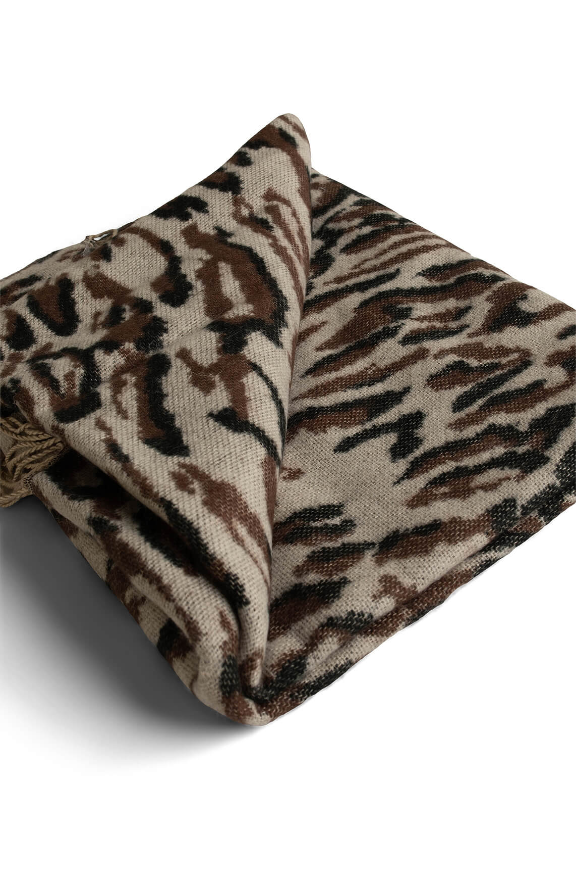 Object Dames Mari panterprint shawl Bruin