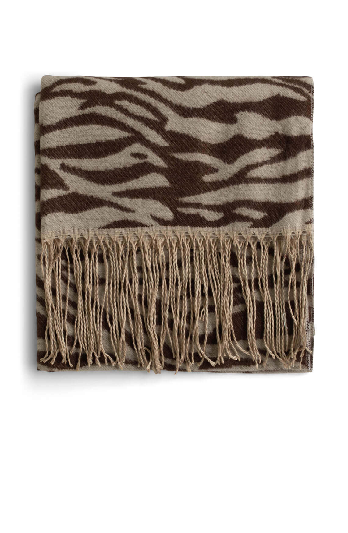 Object Dames Mari zebra shawl Bruin
