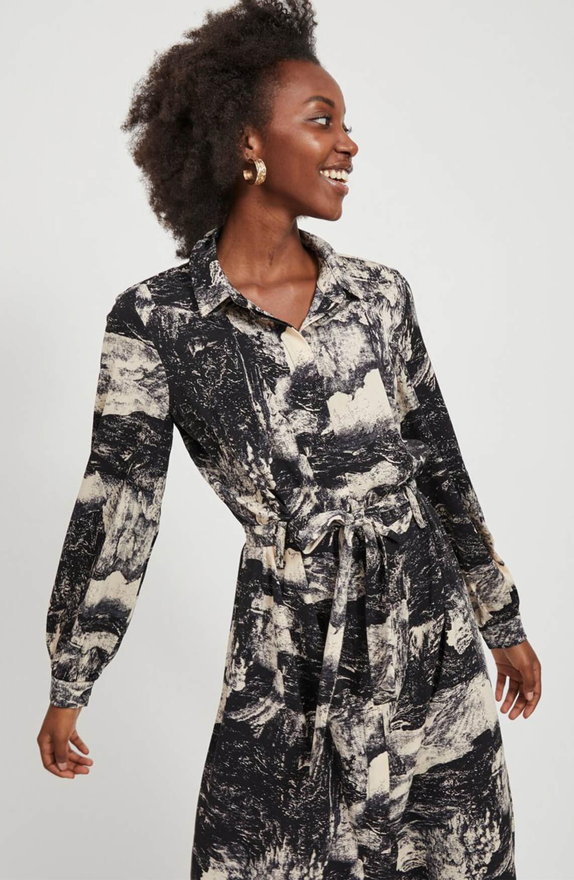 Object Dames Lelia blousejurk zwart