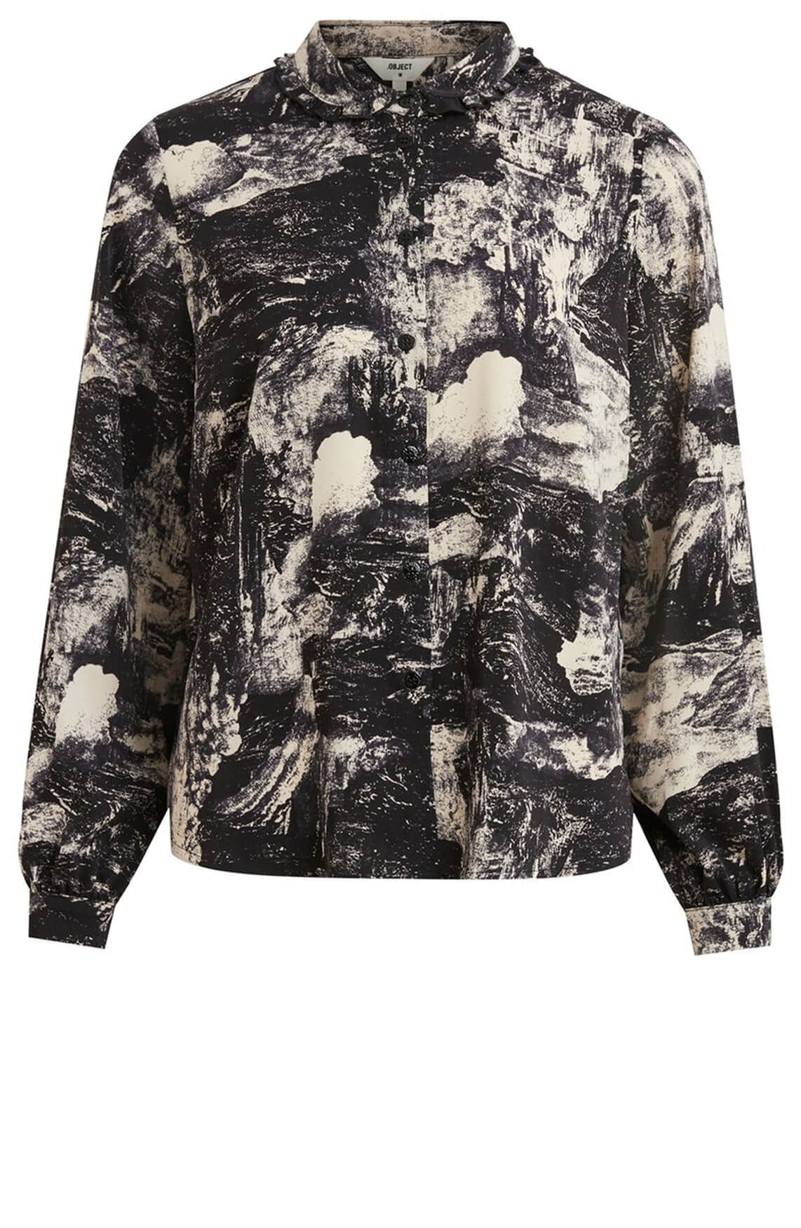 Object Dames Lelia blouse zwart