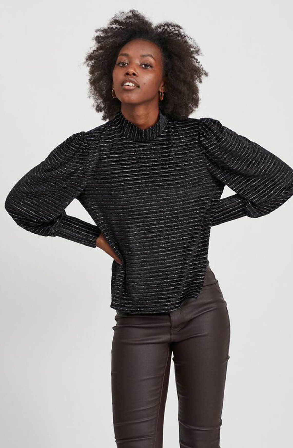Object Dames Dolly blouse zwart