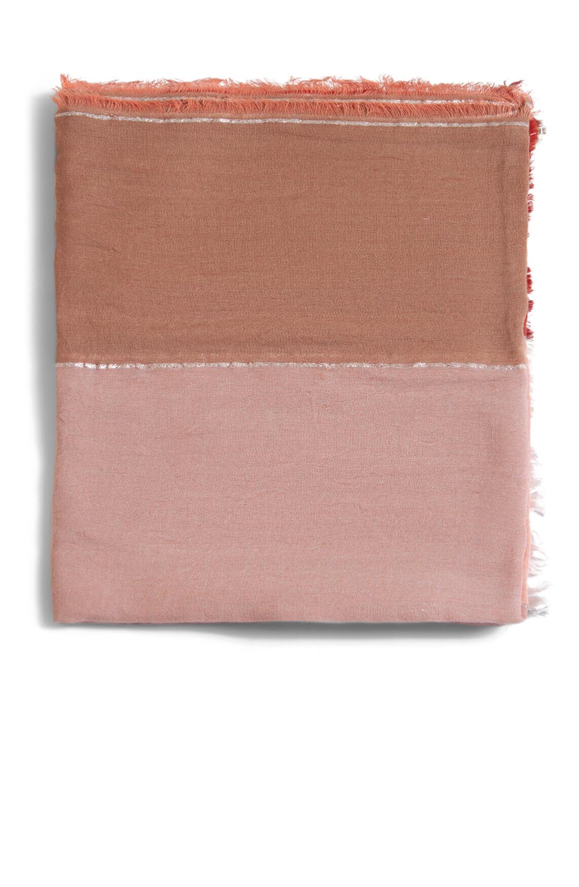 Anna Dames Shawl met lurex roze