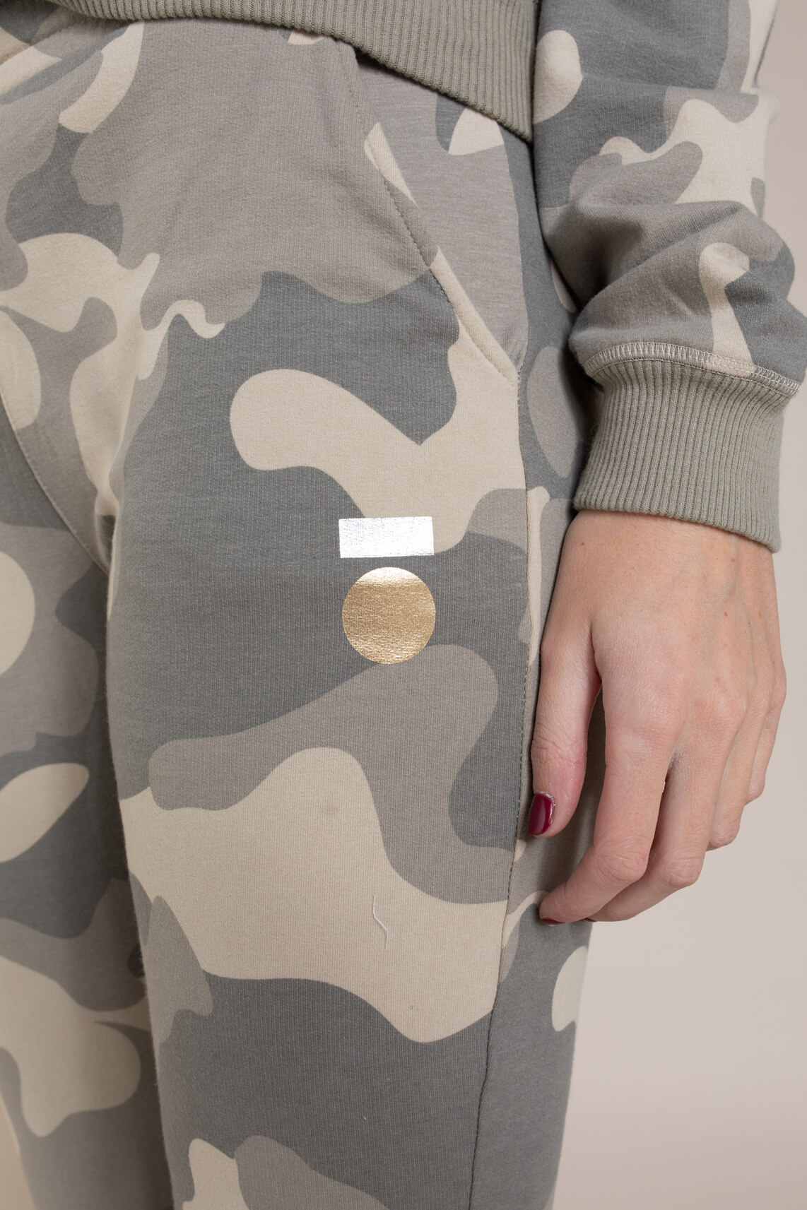 10 Days Dames Camouflage jogger groen