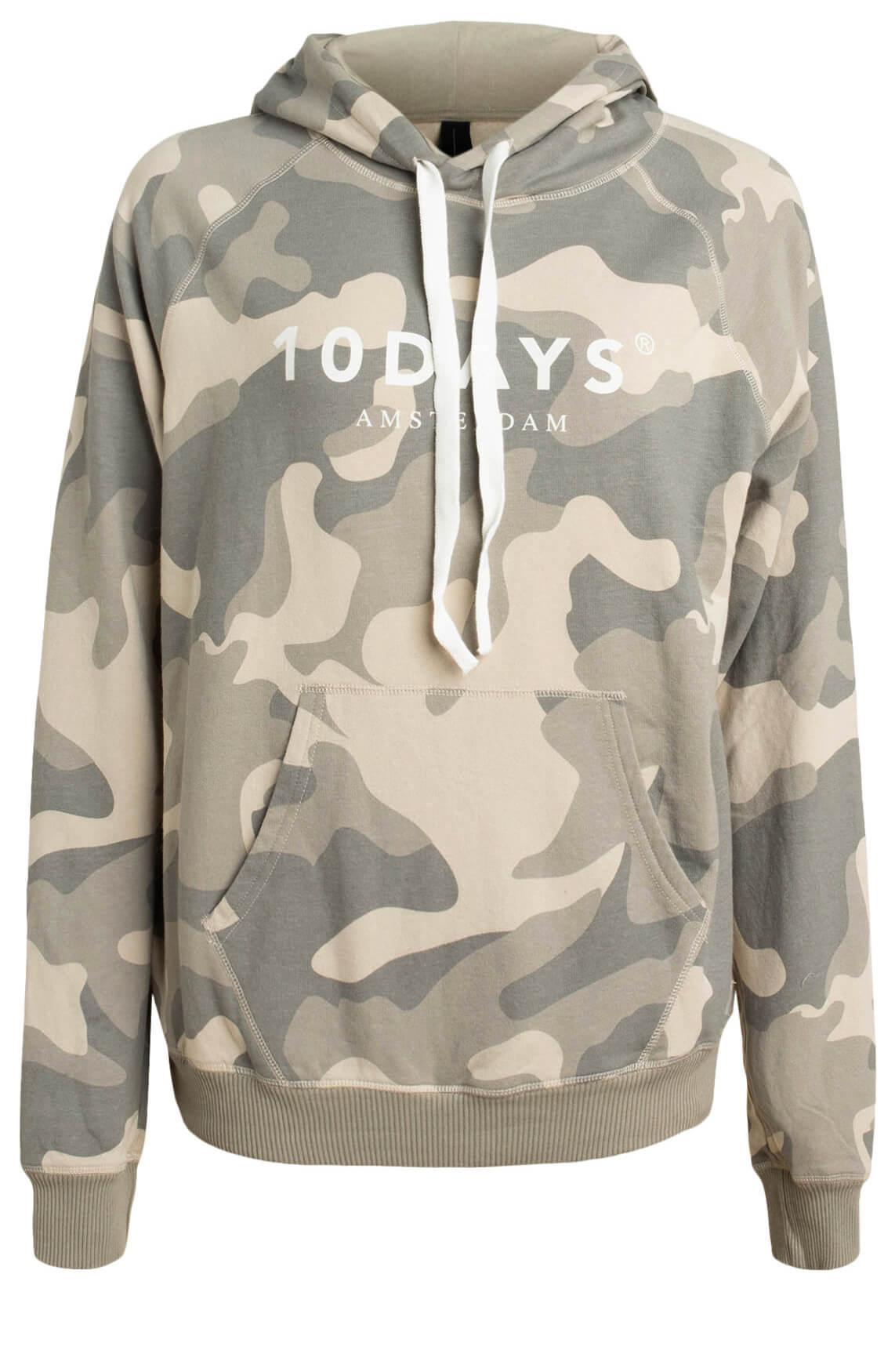 10 Days Dames Camouflage hoodie groen
