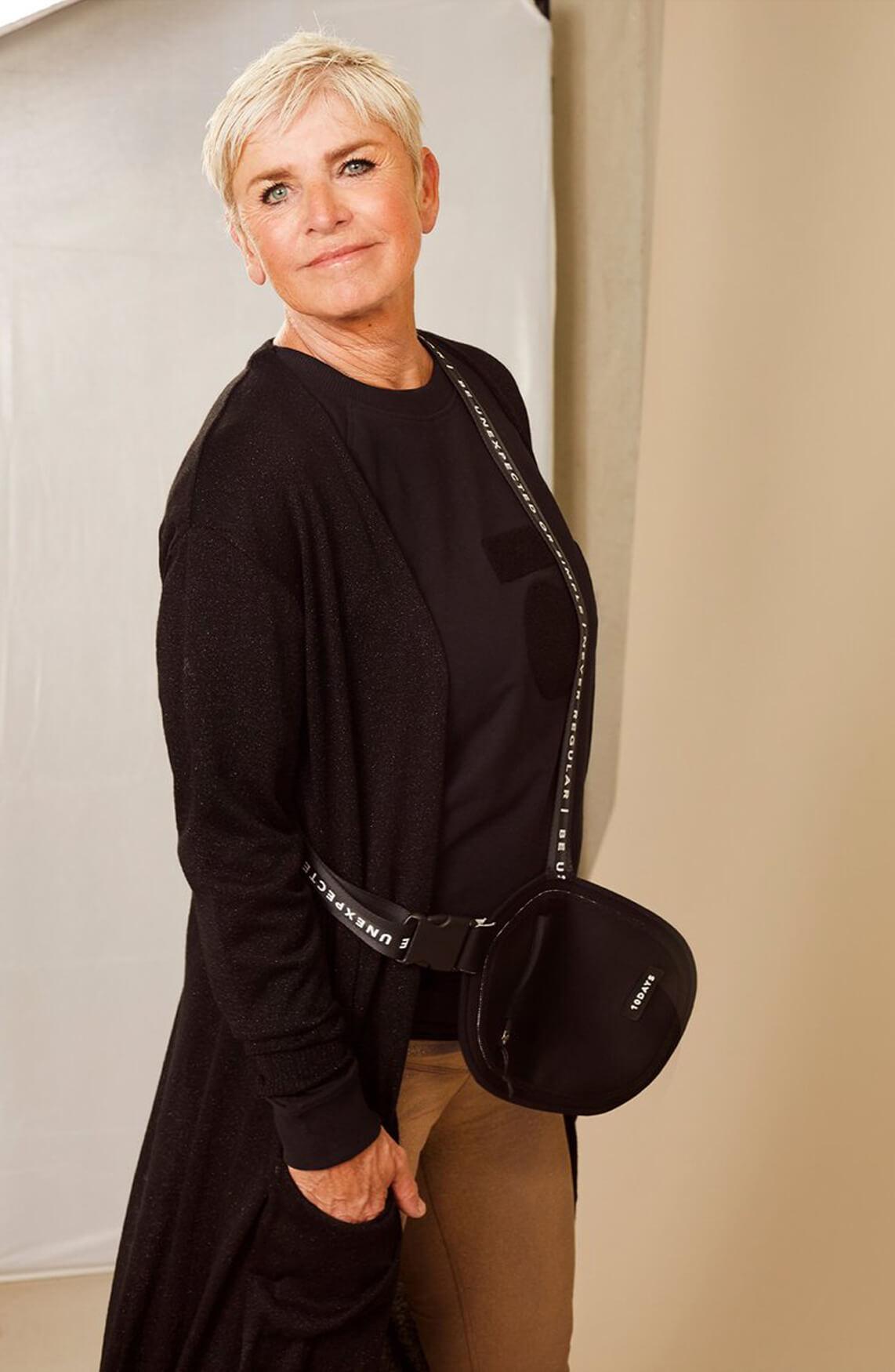 10 Days Dames Terry sweater zwart