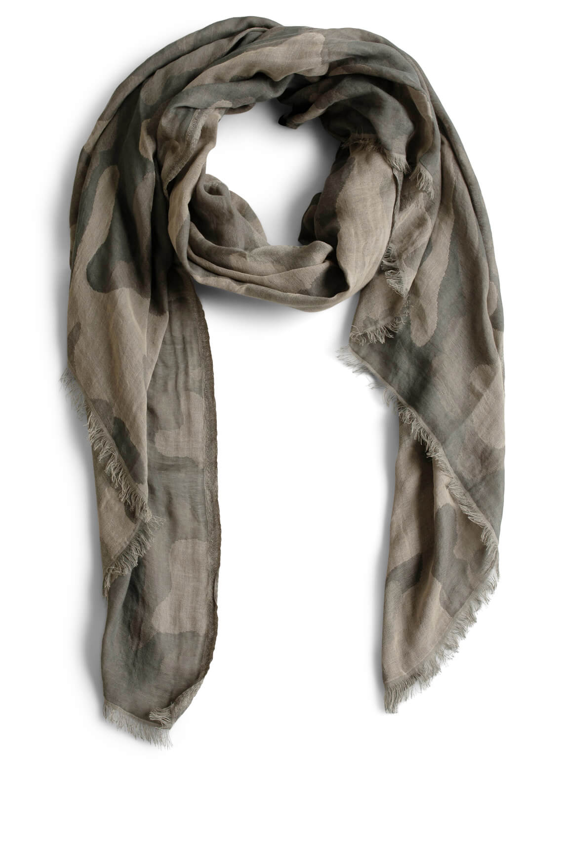 10 Days Dames Camouflage shawl groen