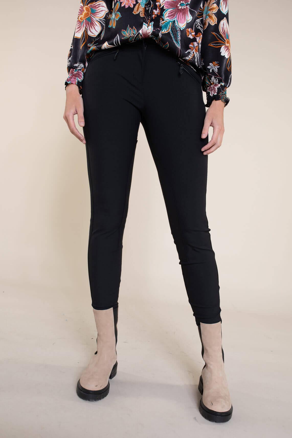 Cambio Dames Resa pantalon zwart