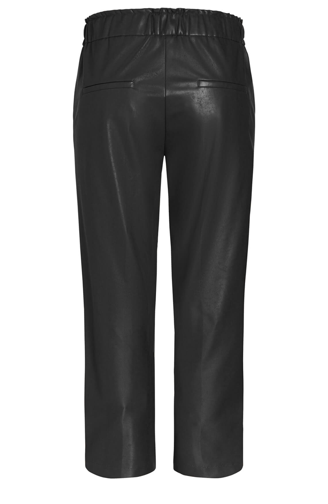 Cambio Dames Colette fake leather broek zwart