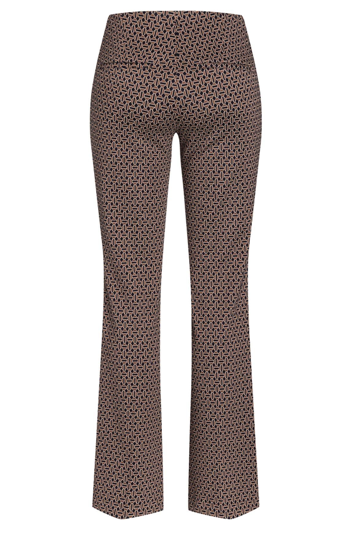 Cambio Dames Ros flared pantalon Bruin