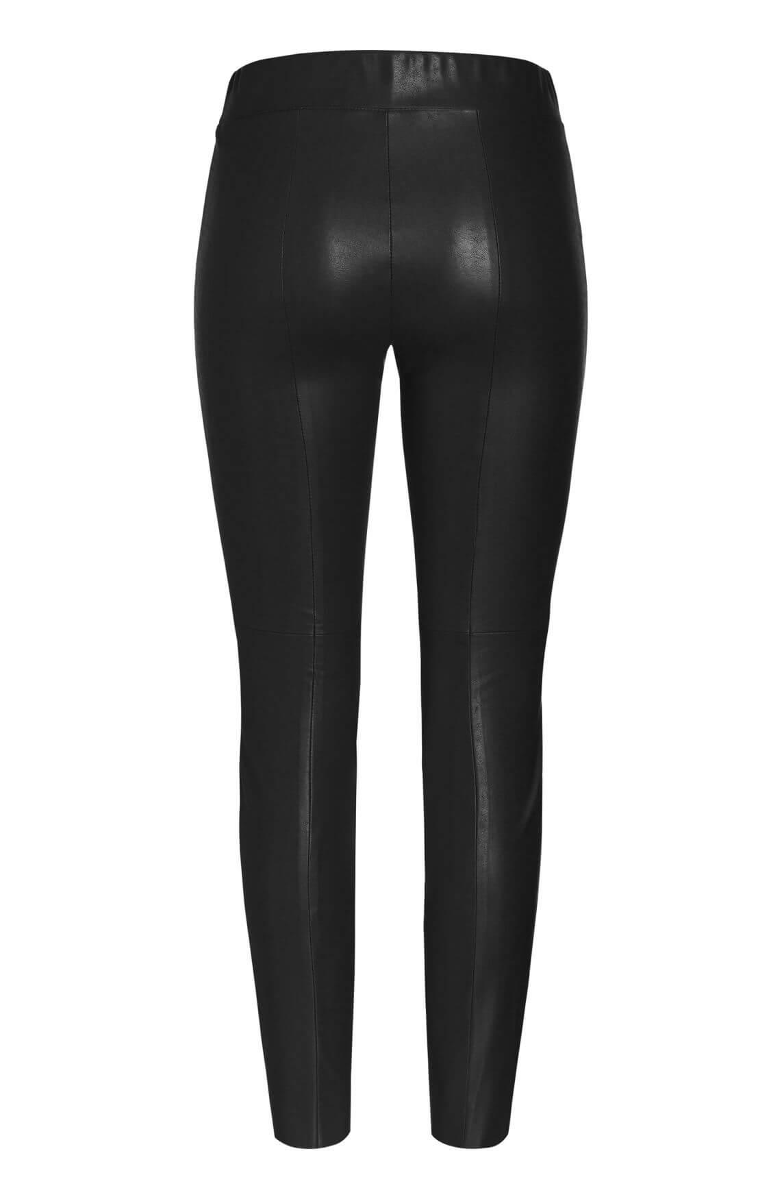 Cambio Dames Broek fake leather zwart