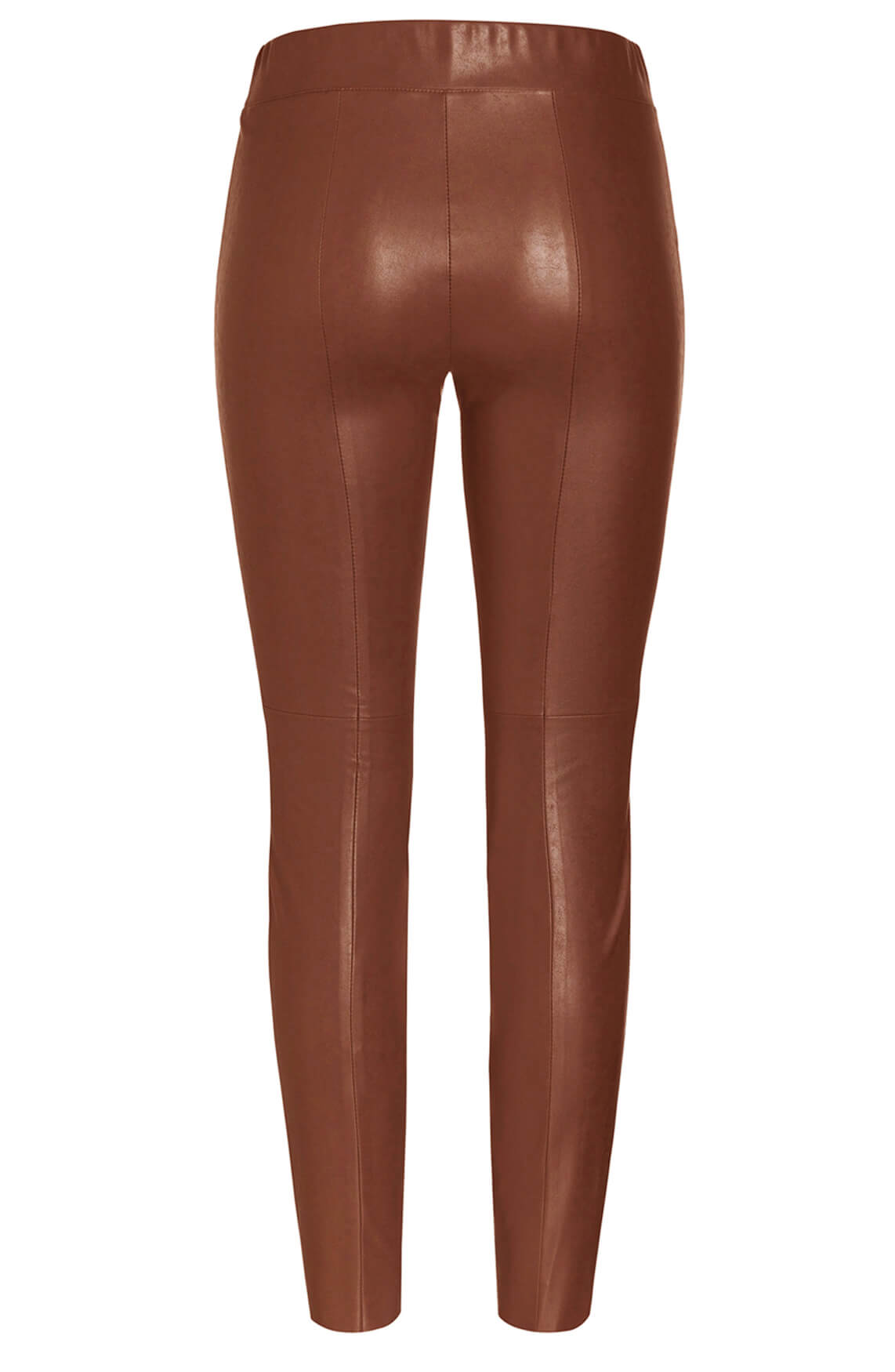 Cambio Dames Randa fake leather legging Bruin
