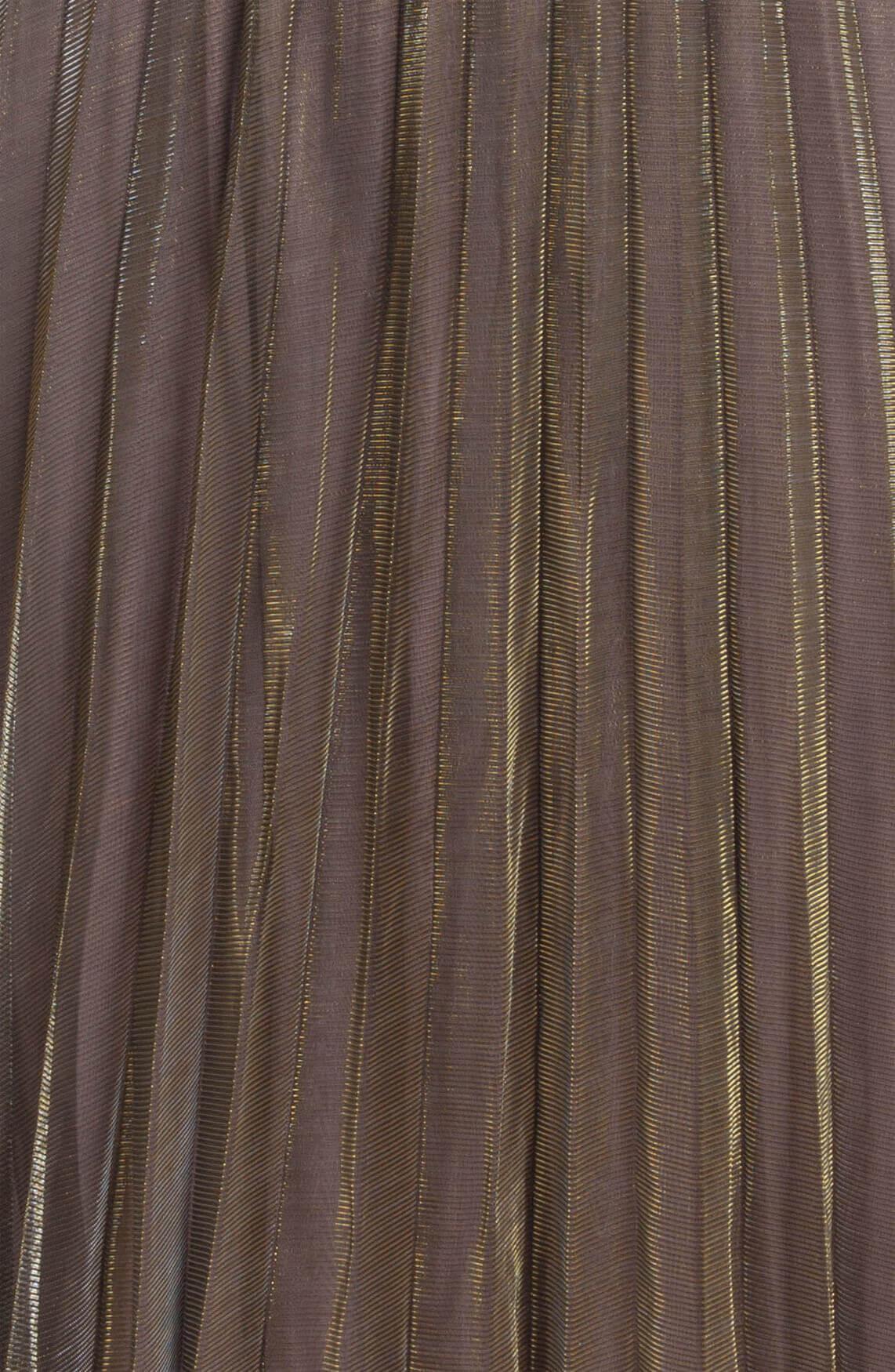 Anna Dames Glanzende plissé rok Bruin