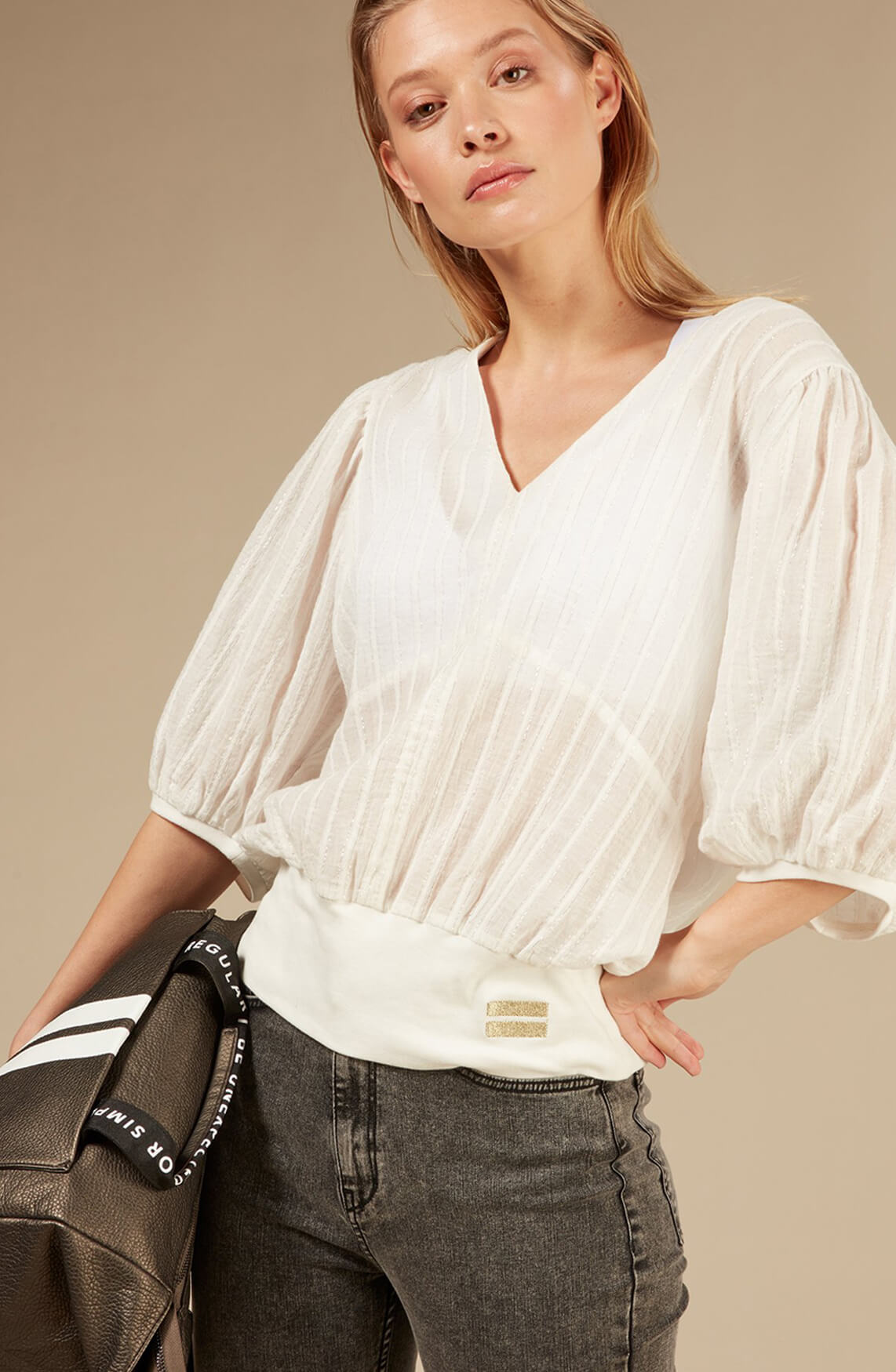 10 Days Dames Sparkling blouse Ecru