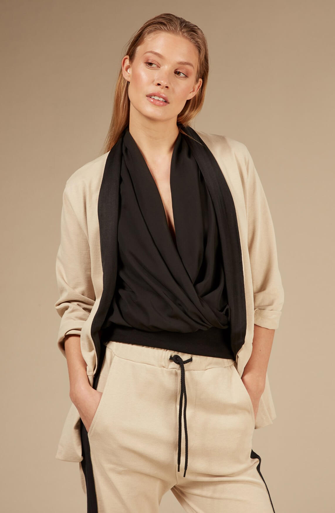10 Days Dames Wrap top zwart