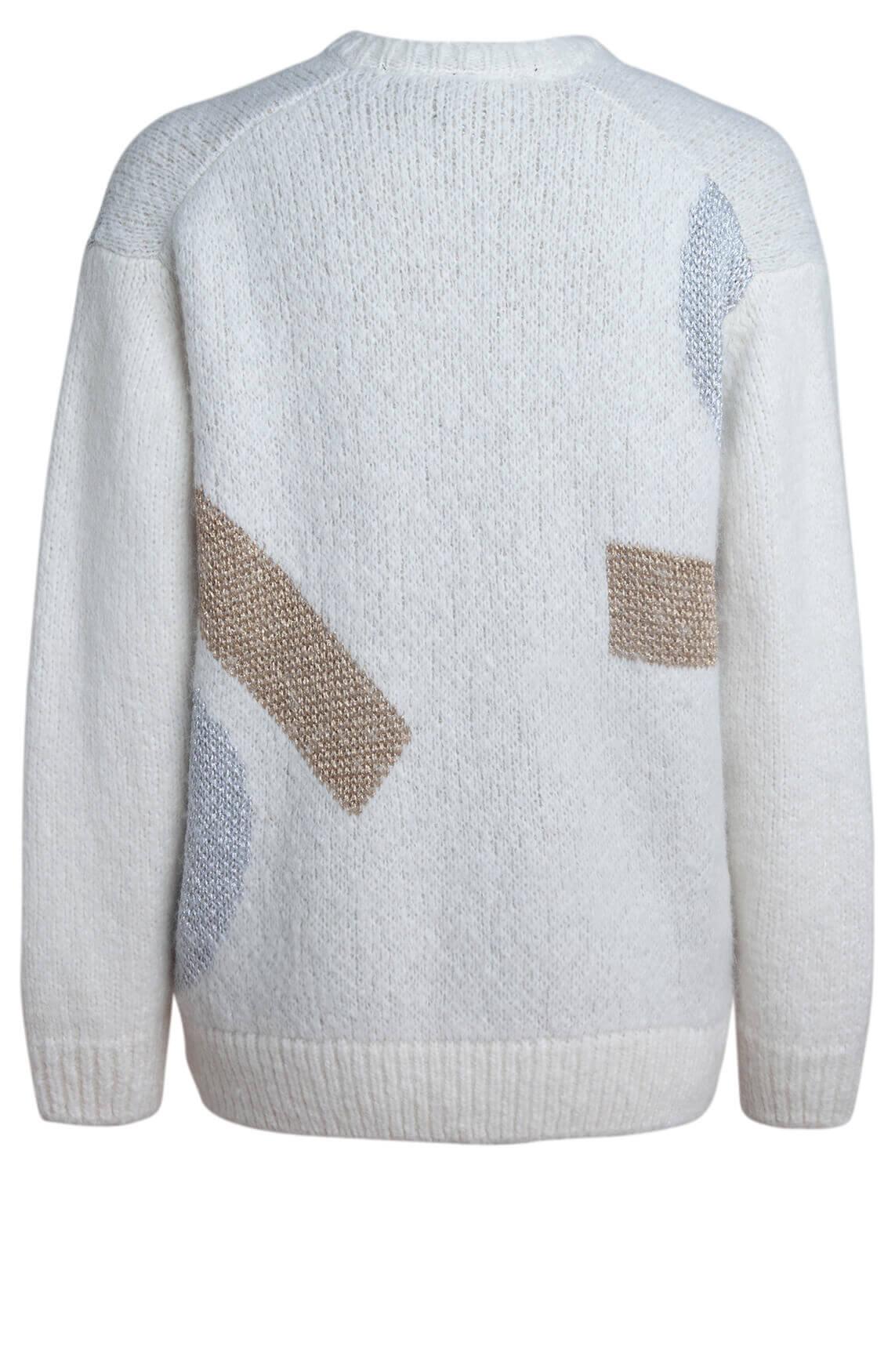 10 Days Dames Gebreide sweater Ecru