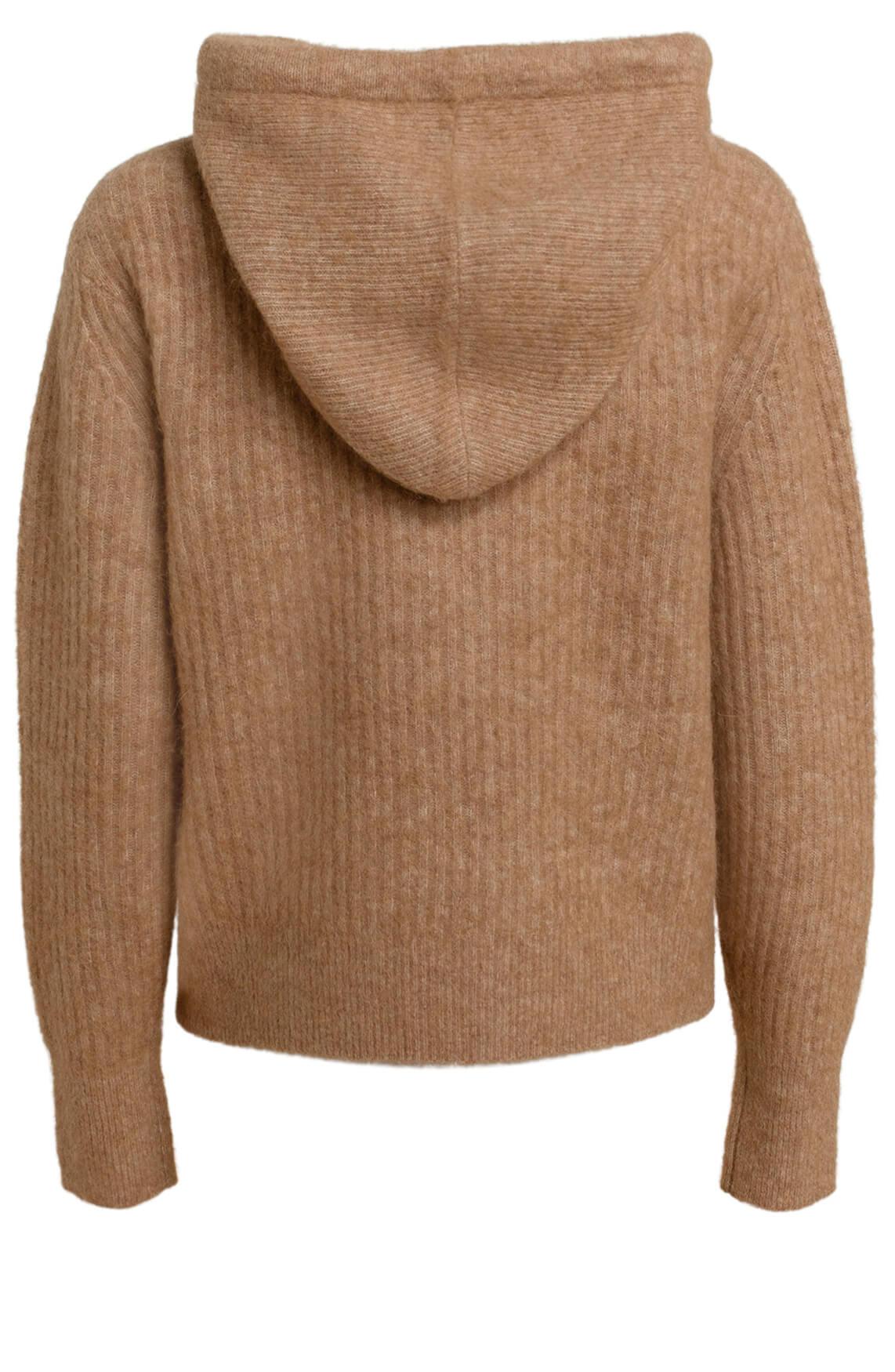 10 Days Dames Gebreide hoodie Bruin