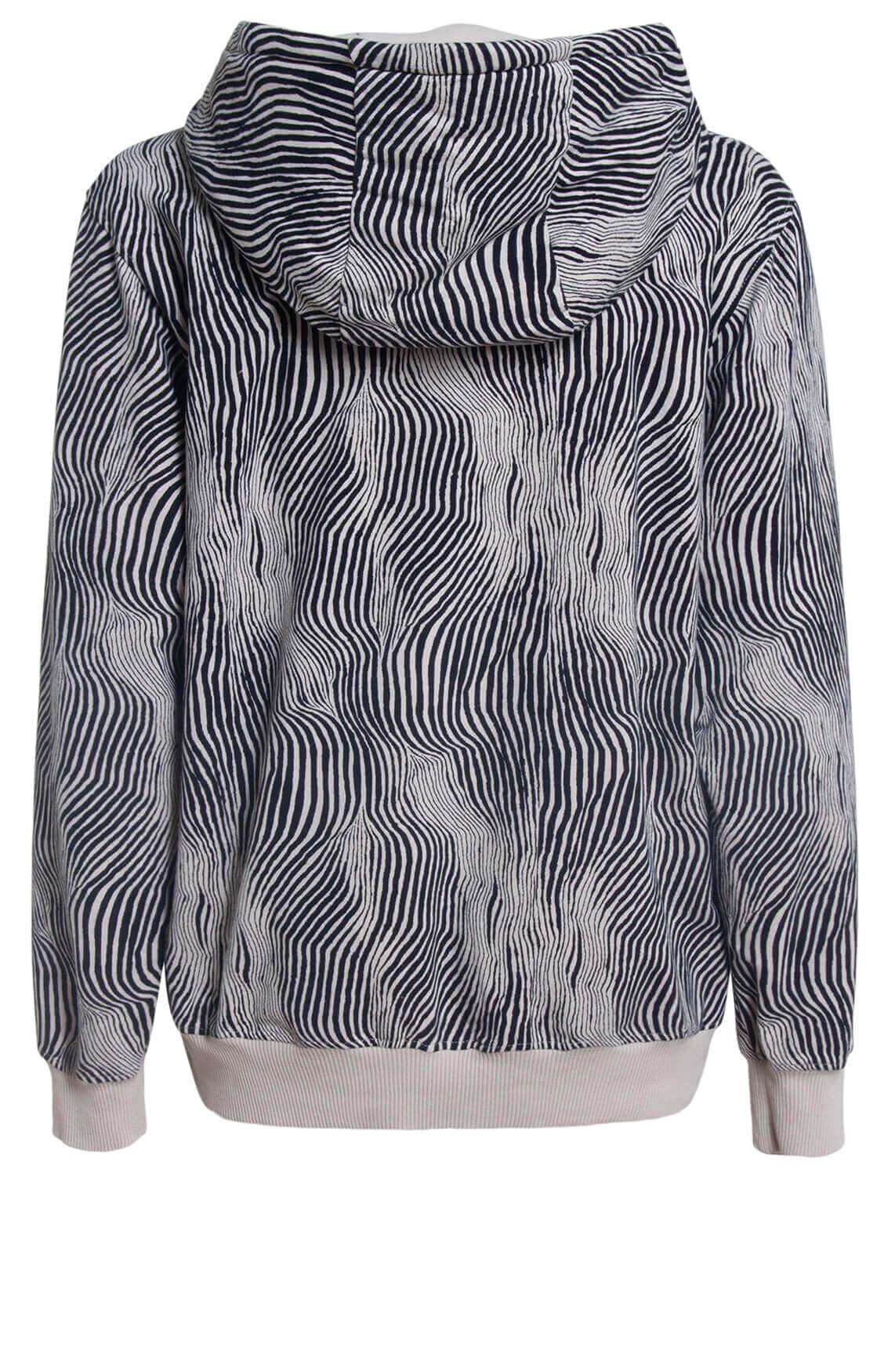 10 Days Dames Zebra hoodie zwart