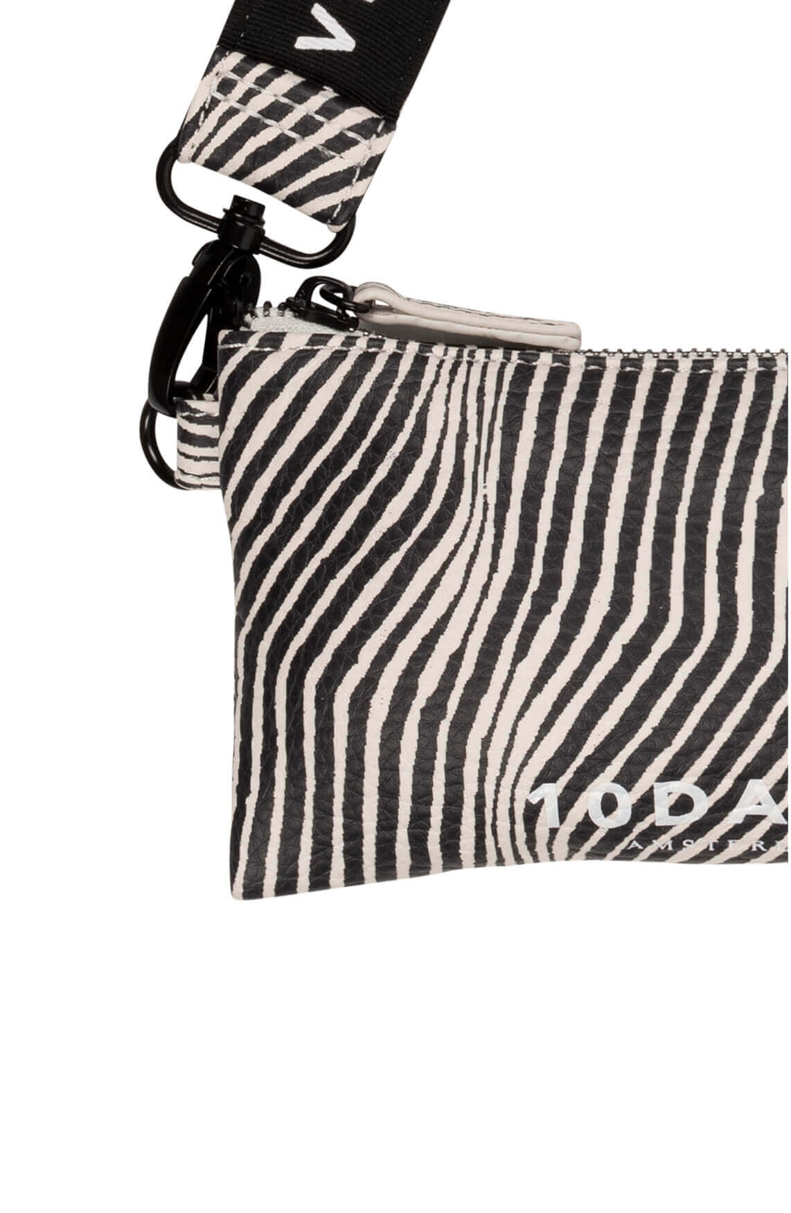 10 Days Dames Zebra mini pouch zwart