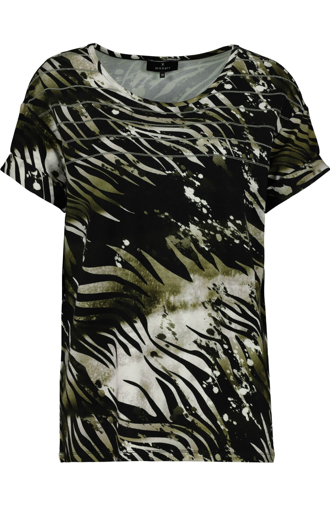 Monari Dames Print shirt zwart