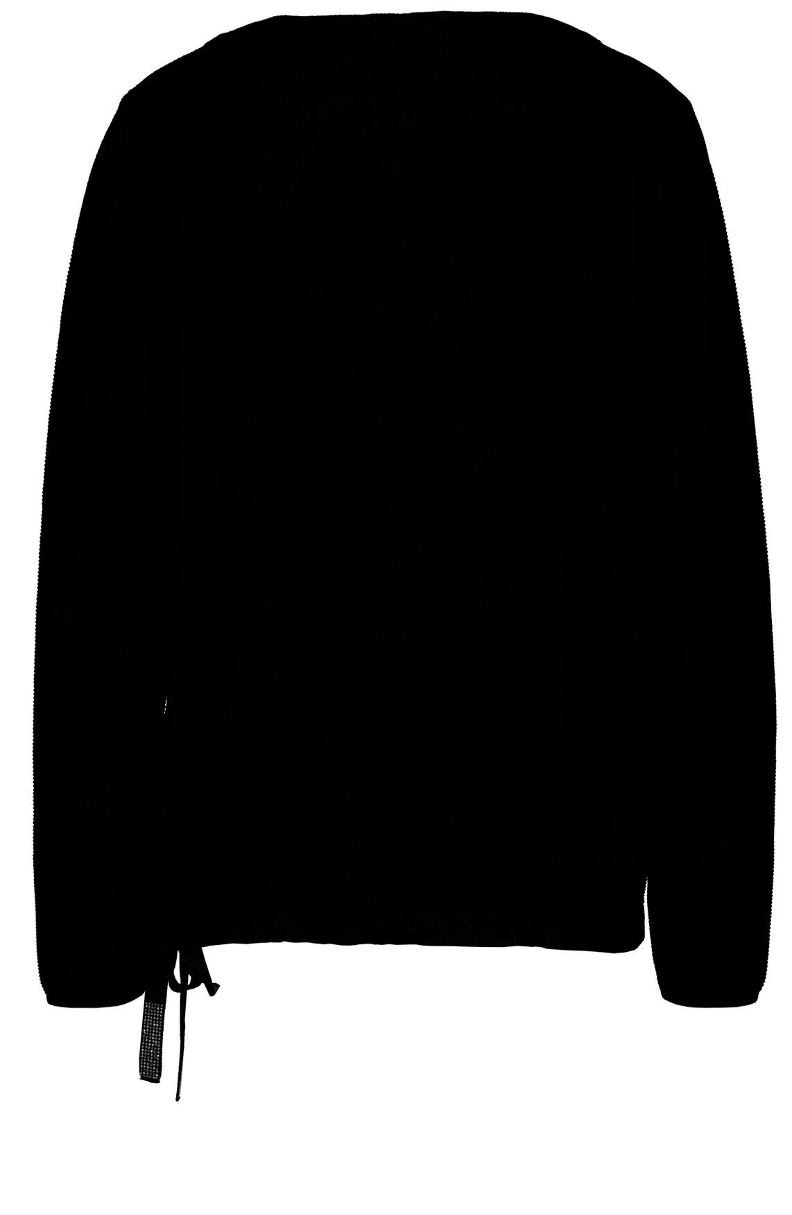 Monari Dames Pullover met koord zwart