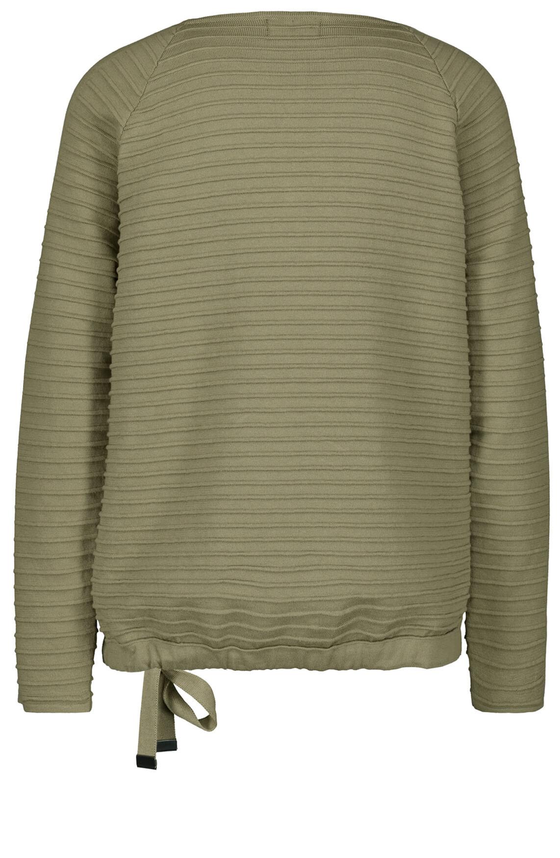 Monari Dames Pullover met studs groen