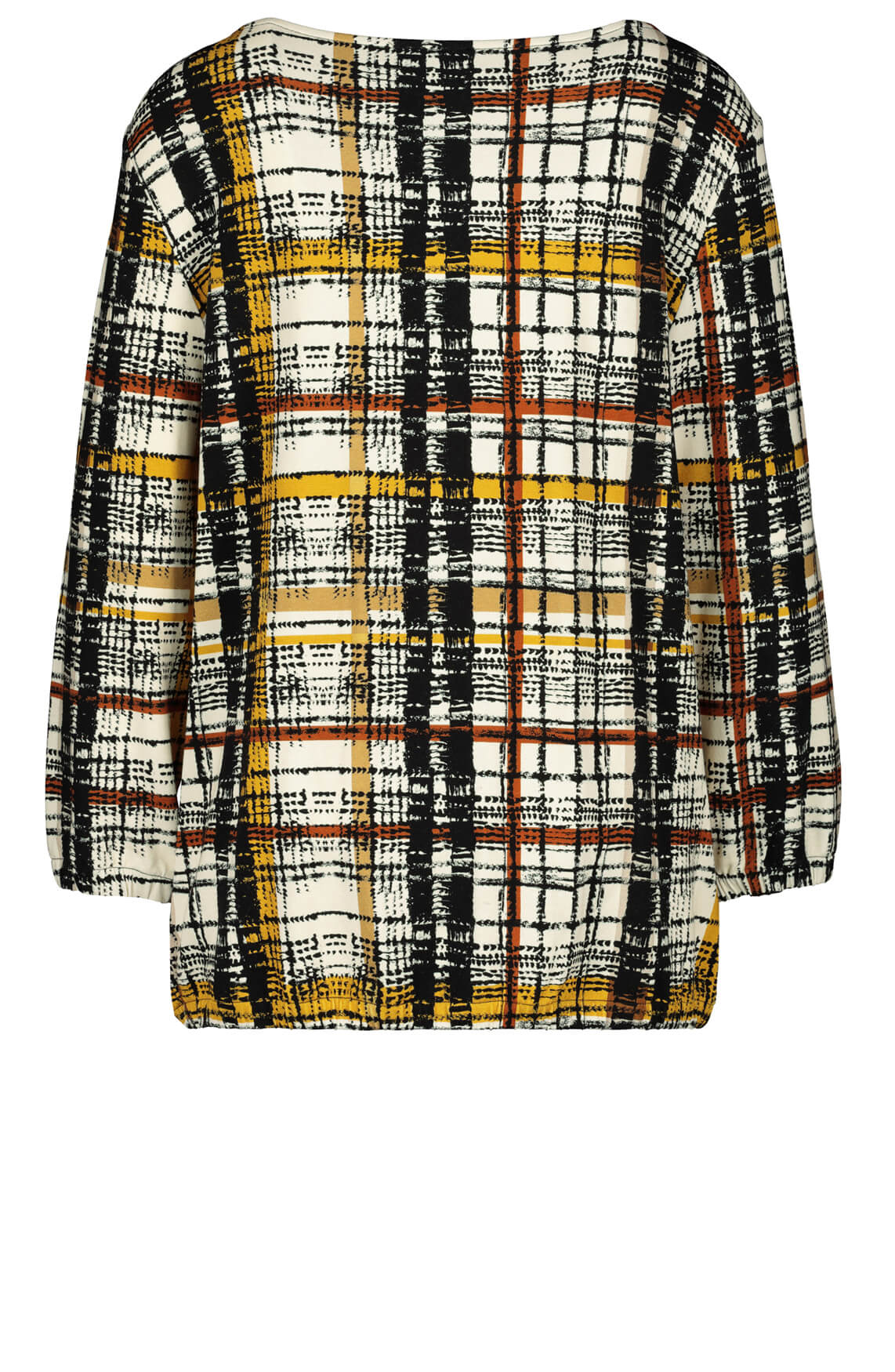 Monari Dames Geruit shirt Bruin