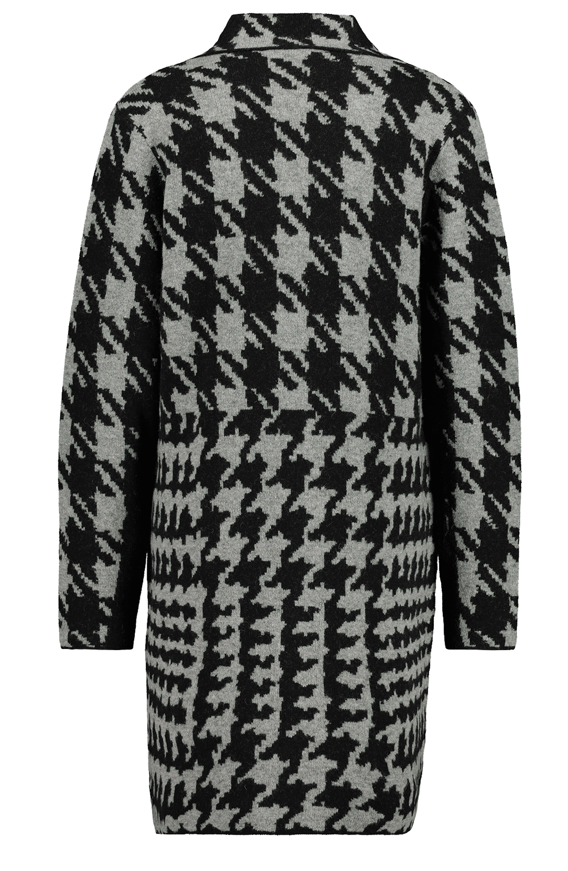 Monari Dames Pied-de-poule vest zwart
