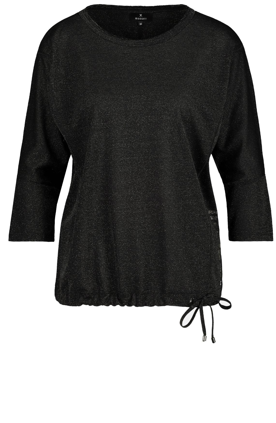 Monari Dames Glitter shirt zwart