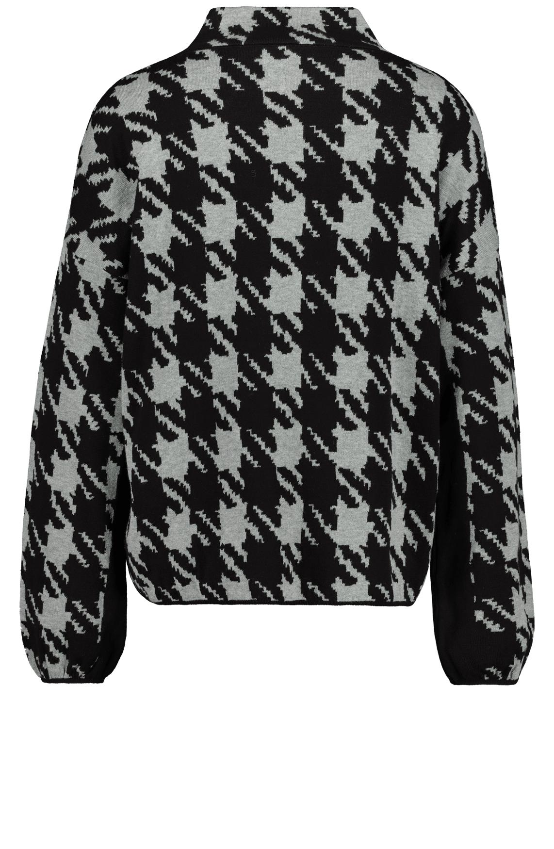 Monari Dames Pied-de-poule trui zwart