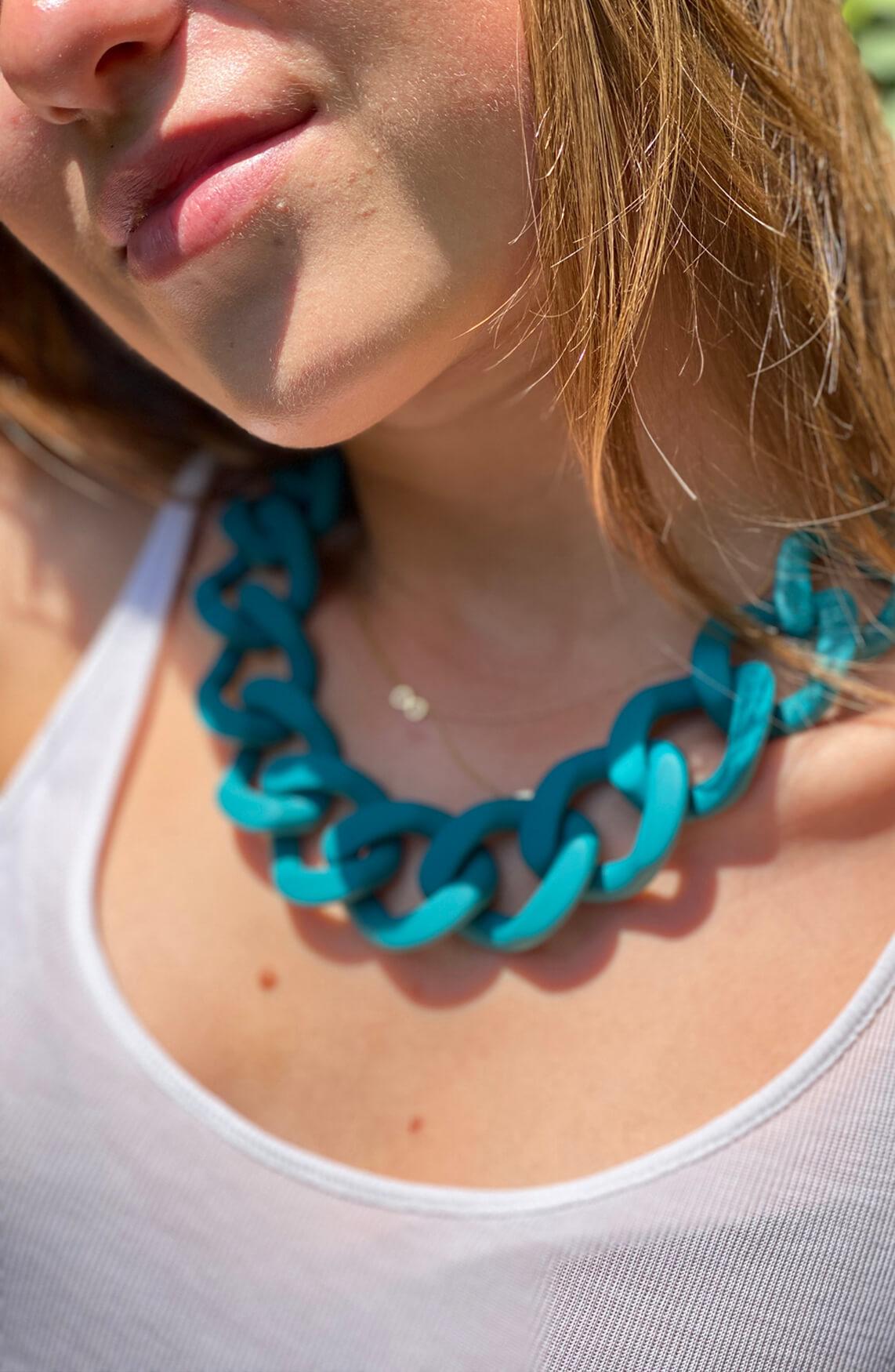 Lins. Amsterdam Dames Ocean ketting Blauw